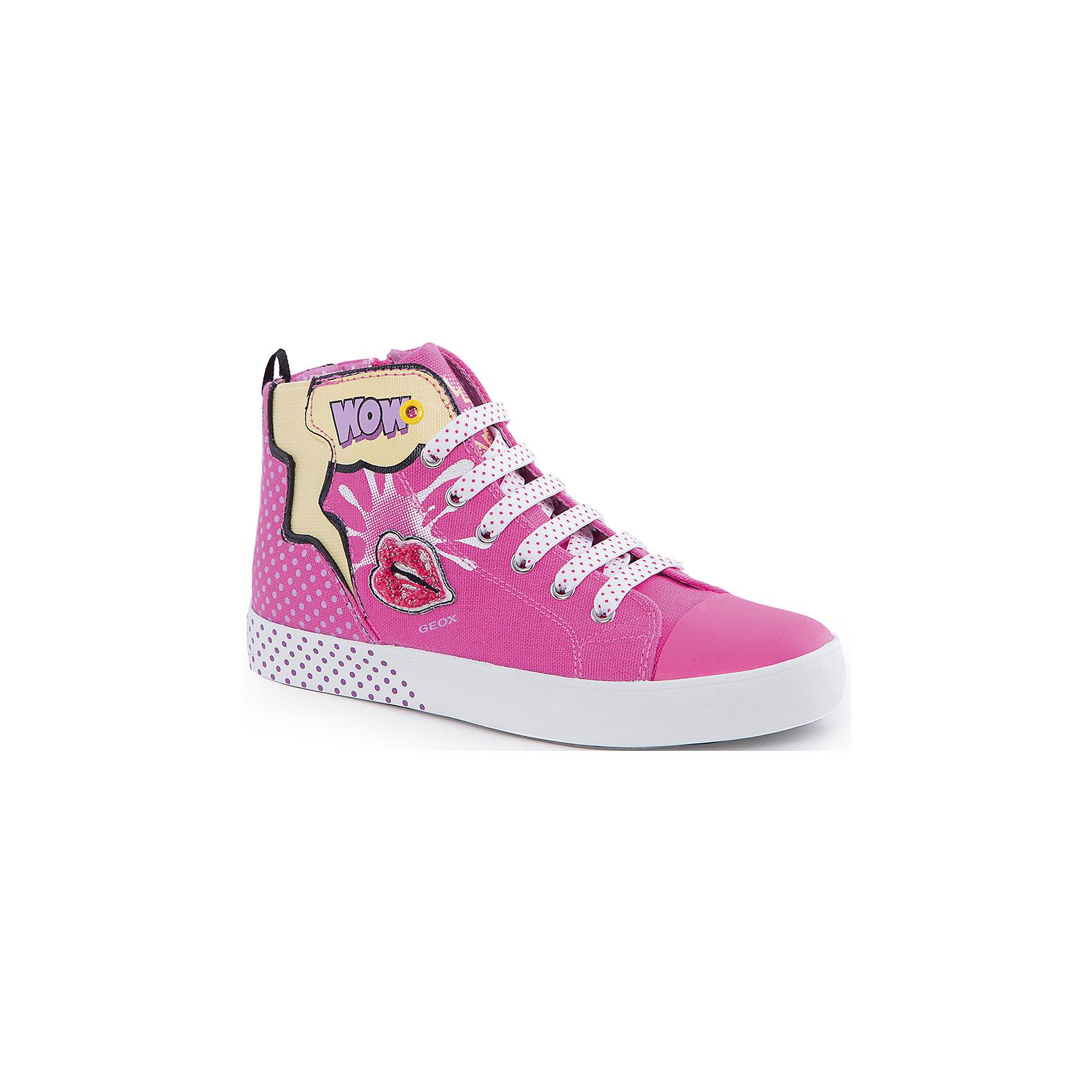 Кеды для девочки GeoxКеды<br>Кеды для девочки от популярной марки GEOX (Геокс).<br><br>Яркие розовые Кеды - отличная обувь для нового весеннего сезона. Модель очень стильно и оригинально смотрится.<br>Производитель обуви заботится не только о внешнем виде, но и стабильно высоком качестве продукции. GEOX (Геокс) разработал специальную дышащую подошву, которая не пропускает влагу внутрь, а также высокотехнологичную стельку.<br><br>Отличительные особенности модели:<br><br>- цвет: розовый;<br>- украшены принтом и аппликацией;<br>- гибкая водоотталкивающая подошва с дышащей мембраной;<br>- мягкий и легкий верх;<br>- защита пальцев;<br>- стильный дизайн;<br>- удобная застежка-молния сбоку, шнуровка;<br>- комфортное облегание;<br>- верх обуви и подкладка сделаны без использования хрома.<br><br>Дополнительная информация:<br><br>- Температурный режим: от +10° С до 25° С.<br><br>- Состав:<br><br>материал верха: текстиль, синтетический материал<br>материал подкладки: текстиль<br>подошва: 100% резина<br><br>Кеды для девочки GEOX (Геокс) (Геокс) можно купить в нашем магазине.<br><br>Ширина мм: 250<br>Глубина мм: 150<br>Высота мм: 150<br>Вес г: 250<br>Цвет: розовый<br>Возраст от месяцев: 72<br>Возраст до месяцев: 84<br>Пол: Женский<br>Возраст: Детский<br>Размер: 30,35,33,36,34,32,31,29,28<br>SKU: 4519095