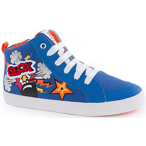 Кеды для мальчика GeoxКеды<br>Кеды для мальчика от популярной марки GEOX (Геокс).<br><br>Легкие синие Кеды - отличная выбор обуви для весны и лета! Модель очень стильно и оригинально смотрится.<br>Производитель обуви заботится не только о внешнем виде, но и стабильно высоком качестве продукции. GEOX (Геокс) разработал специальную дышащую подошву, которая не пропускает влагу внутрь, а также высокотехнологичную стельку.<br><br>Отличительные особенности модели:<br><br>- цвет: синий;<br>- декорированы ярким принтом и аппликацией;<br>- гибкая водоотталкивающая подошва с дышащей мембраной;<br>- мягкий и легкий верх;<br>- защита пальцев ;<br>- стильный дизайн;<br>- удобная шнуровка, молния;<br>- комфортное облегание;<br>- верх обуви и подкладка сделаны без использования хрома.<br><br>Дополнительная информация:<br><br>- Температурный режим: от +10° С до 25° С.<br><br>- Состав:<br><br>материал верха: текстиль, синтетический материал<br>материал подкладки: текстиль<br>подошва: 100% резина<br><br>Кеды для мальчика GEOX (Геокс) (Геокс) можно купить в нашем магазине.<br><br>Ширина мм: 250<br>Глубина мм: 150<br>Высота мм: 150<br>Вес г: 250<br>Цвет: синий<br>Возраст от месяцев: 156<br>Возраст до месяцев: 168<br>Пол: Мужской<br>Возраст: Детский<br>Размер: 37,32,29,28,30,31,33,34,35,36,39,38<br>SKU: 4519289