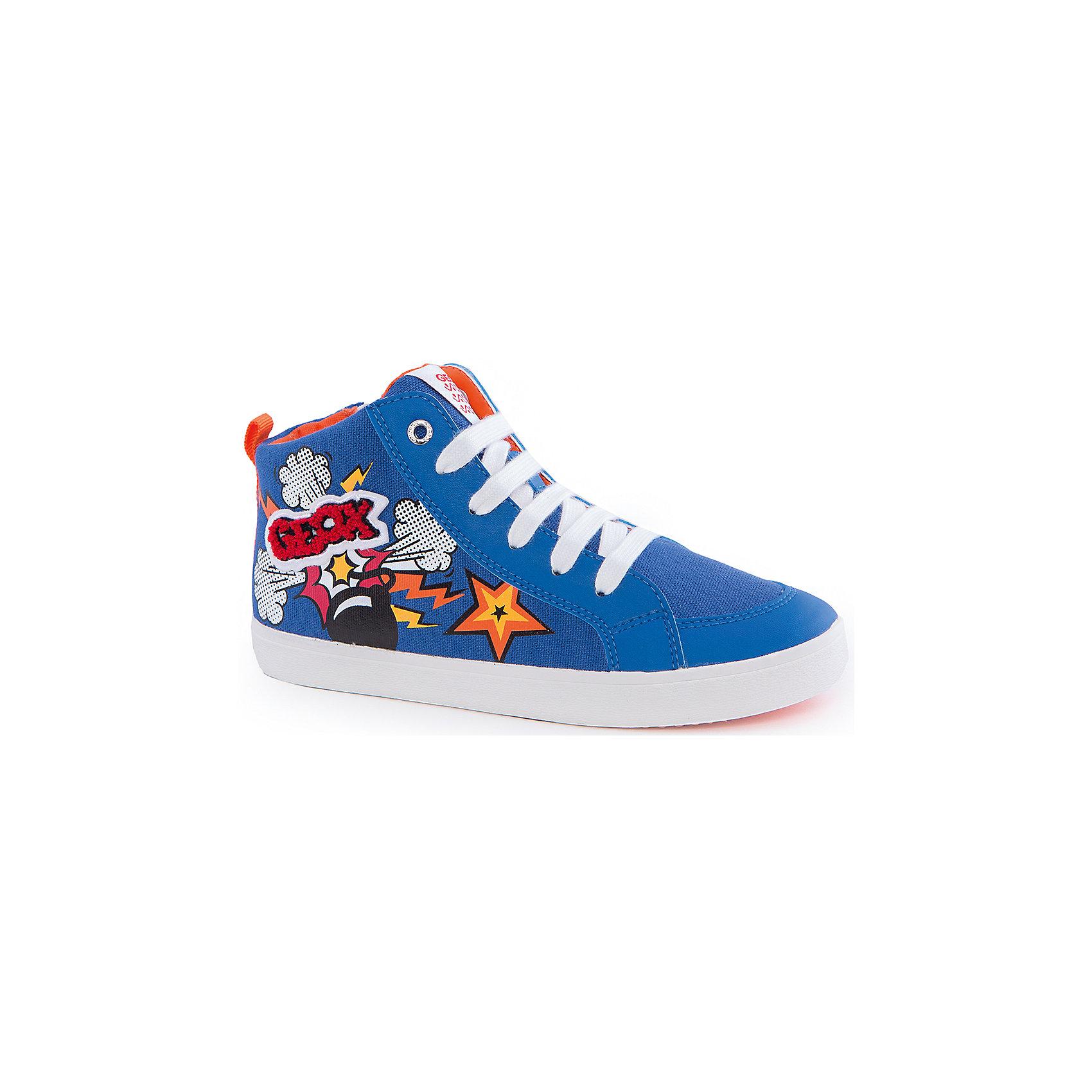 Кеды для мальчика GeoxКеды<br>Кеды для мальчика от популярной марки GEOX (Геокс).<br><br>Легкие синие Кеды - отличная выбор обуви для весны и лета! Модель очень стильно и оригинально смотрится.<br>Производитель обуви заботится не только о внешнем виде, но и стабильно высоком качестве продукции. GEOX (Геокс) разработал специальную дышащую подошву, которая не пропускает влагу внутрь, а также высокотехнологичную стельку.<br><br>Отличительные особенности модели:<br><br>- цвет: синий;<br>- декорированы ярким принтом и аппликацией;<br>- гибкая водоотталкивающая подошва с дышащей мембраной;<br>- мягкий и легкий верх;<br>- защита пальцев ;<br>- стильный дизайн;<br>- удобная шнуровка, молния;<br>- комфортное облегание;<br>- верх обуви и подкладка сделаны без использования хрома.<br><br>Дополнительная информация:<br><br>- Температурный режим: от +10° С до 25° С.<br><br>- Состав:<br><br>материал верха: текстиль, синтетический материал<br>материал подкладки: текстиль<br>подошва: 100% резина<br><br>Кеды для мальчика GEOX (Геокс) (Геокс) можно купить в нашем магазине.<br><br>Ширина мм: 250<br>Глубина мм: 150<br>Высота мм: 150<br>Вес г: 250<br>Цвет: синий<br>Возраст от месяцев: 156<br>Возраст до месяцев: 168<br>Пол: Мужской<br>Возраст: Детский<br>Размер: 37,36,35,34,33,31,30,29,32,28,38,39<br>SKU: 4519289