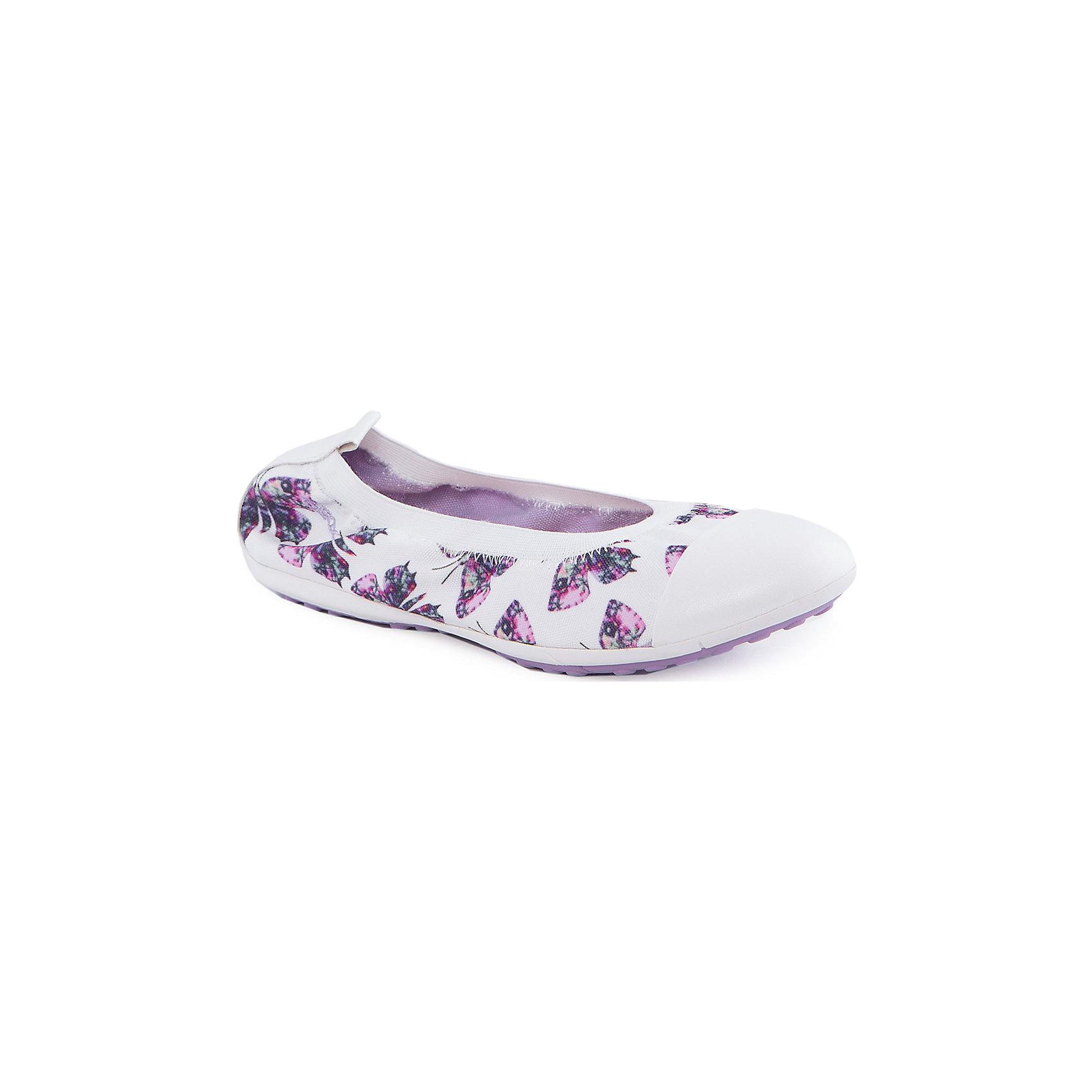 Балетки для девочки GeoxБалетки<br>Туфли для девочки от популярной марки GEOX (Геокс).<br><br>Легкие балетки с принтом - отличная обувь для нового весеннего сезона. Модель очень стильно и оригинально смотрится.<br>Производитель обуви заботится не только о внешнем виде, но и стабильно высоком качестве продукции. GEOX (Геокс) разработал специальную дышащую подошву, которая не пропускает влагу внутрь, а также высокотехнологичную стельку.<br><br>Отличительные особенности модели:<br><br>- цвет: белый;<br>- украшены принтом с бабочками;<br>- гибкая водоотталкивающая подошва с дышащей мембраной;<br>- мягкий и легкий верх;<br>- защита пальцев;<br>- стильный дизайн;<br>- без застежек;<br>- комфортное облегание;<br>- верх обуви и подкладка сделаны без использования хрома.<br><br>Дополнительная информация:<br><br>Состав:<br><br>материал верха: текстиль, синтетический материал<br>материал подкладки: текстиль<br>подошва: 100% резина<br><br>Туфли для девочки GEOX (Геокс) (Геокс) можно купить в нашем магазине.<br><br>Ширина мм: 227<br>Глубина мм: 145<br>Высота мм: 124<br>Вес г: 325<br>Цвет: белый<br>Возраст от месяцев: 84<br>Возраст до месяцев: 96<br>Пол: Женский<br>Возраст: Детский<br>Размер: 31,28,30,35,36,33,38,29,39,37,34,32<br>SKU: 4519302