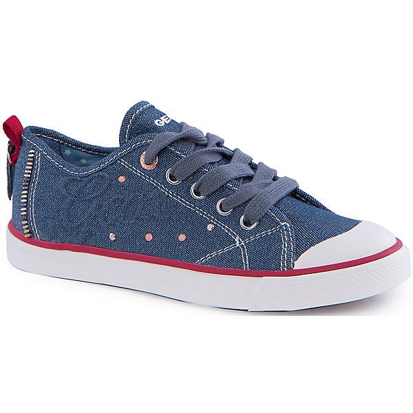Кеды для девочки GeoxКеды<br>Кеды для девочки от популярной марки GEOX (Геокс).<br><br>Модные легкие Кеды - отличная обувь для нового весеннего сезона. Модель очень стильно и оригинально смотрится.<br>Производитель обуви заботится не только о внешнем виде, но и стабильно высоком качестве продукции. GEOX (Геокс) разработал специальную дышащую подошву, которая не пропускает влагу внутрь, а также высокотехнологичную стельку.<br><br>Отличительные особенности модели:<br><br>- цвет: синий джинс;<br>- декорированы белыми и красными элементами;<br>- гибкая водоотталкивающая подошва с дышащей мембраной;<br>- мягкий и легкий верх;<br>- защита пальцев и пятки;<br>- стильный дизайн;<br>- удобная шнуровка;<br>- комфортное облегание;<br>- верх обуви и подкладка сделаны без использования хрома.<br><br>Дополнительная информация:<br><br>- Температурный режим: от +10° С до 25° С.<br><br>- Состав:<br><br>материал верха: текстиль, синтетический материал<br>материал подкладки: текстиль<br>подошва: 100% резина<br><br>Кеды для девочки GEOX (Геокс) (Геокс) можно купить в нашем магазине.<br>Ширина мм: 250; Глубина мм: 150; Высота мм: 150; Вес г: 250; Цвет: синий; Возраст от месяцев: 60; Возраст до месяцев: 72; Пол: Женский; Возраст: Детский; Размер: 29,34,39,38,36,31,35,32,28,37,30,33; SKU: 4519428;