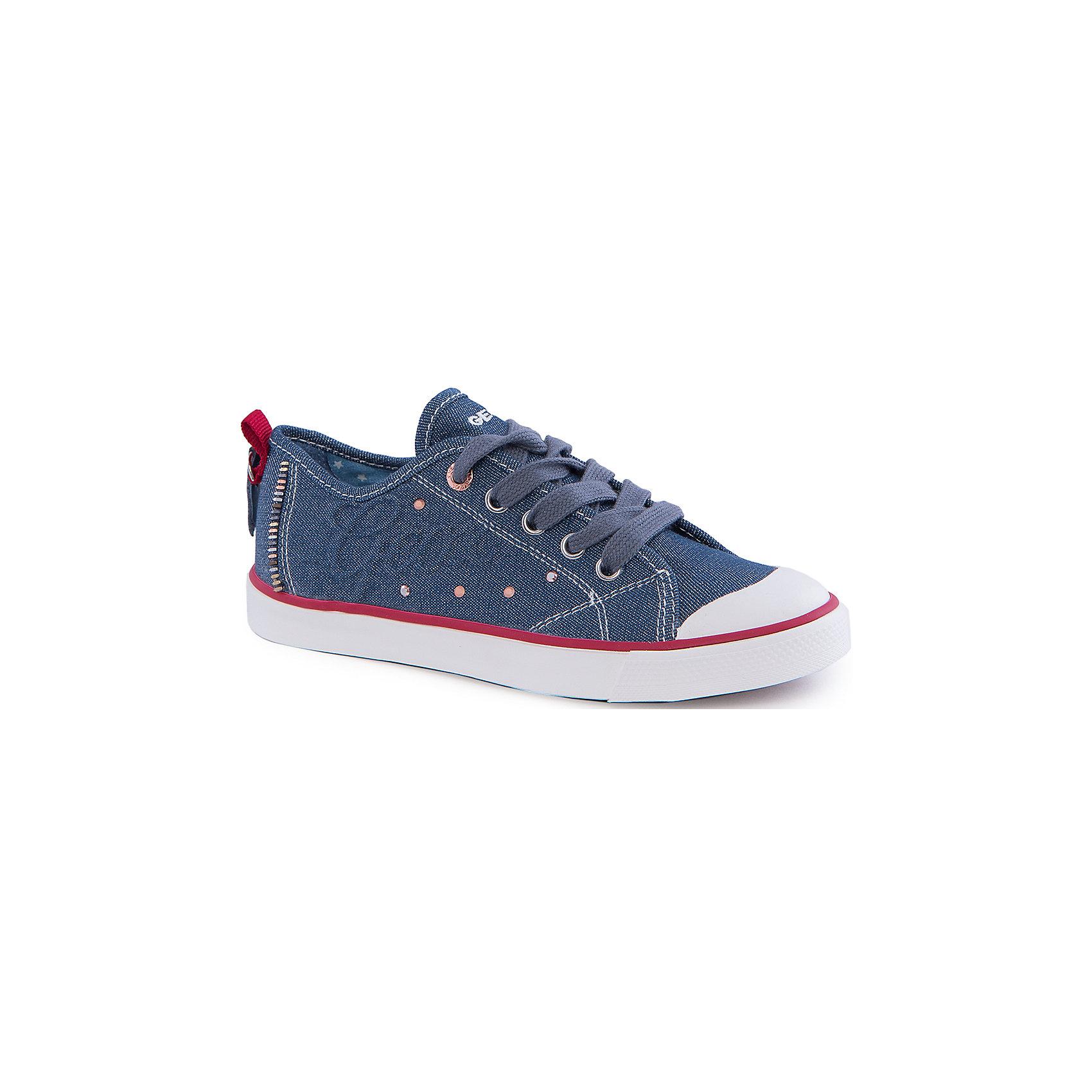 Кроссовки для девочки GEOXКроссовки для девочки от популярной марки GEOX (Геокс).<br><br>Модные легкие кроссовки - отличная обувь для нового весеннего сезона. Модель очень стильно и оригинально смотрится.<br>Производитель обуви заботится не только о внешнем виде, но и стабильно высоком качестве продукции. GEOX (Геокс) разработал специальную дышащую подошву, которая не пропускает влагу внутрь, а также высокотехнологичную стельку.<br><br>Отличительные особенности модели:<br><br>- цвет: синий джинс;<br>- декорированы белыми и красными элементами;<br>- гибкая водоотталкивающая подошва с дышащей мембраной;<br>- мягкий и легкий верх;<br>- защита пальцев и пятки;<br>- стильный дизайн;<br>- удобная шнуровка;<br>- комфортное облегание;<br>- верх обуви и подкладка сделаны без использования хрома.<br><br>Дополнительная информация:<br><br>- Температурный режим: от +10° С до 25° С.<br><br>- Состав:<br><br>материал верха: текстиль, синтетический материал<br>материал подкладки: текстиль<br>подошва: 100% резина<br><br>Кроссовки для девочки GEOX (Геокс) (Геокс) можно купить в нашем магазине.<br><br>Ширина мм: 250<br>Глубина мм: 150<br>Высота мм: 150<br>Вес г: 250<br>Цвет: синий<br>Возраст от месяцев: 120<br>Возраст до месяцев: 132<br>Пол: Женский<br>Возраст: Детский<br>Размер: 34,39,38,36,31,35,32,28,29,37,30,33<br>SKU: 4519428