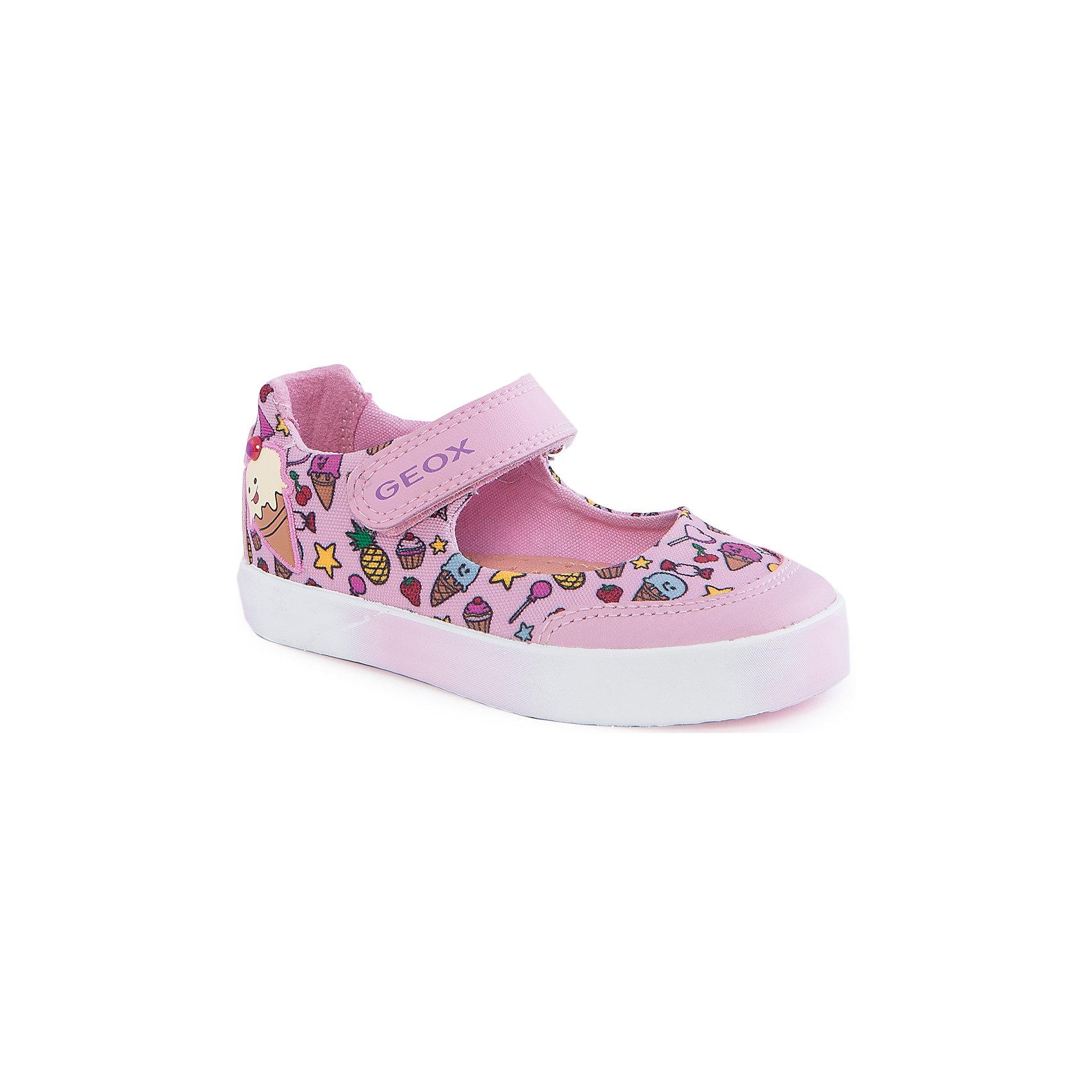 Туфли для девочки GEOXТуфли для девочки от популярной марки GEOX (Геокс).<br><br>Легкие туфли с принтом - отличная обувь для нового весенне-летнего сезона. Модель очень стильно и оригинально смотрится.<br>Производитель обуви заботится не только о внешнем виде, но и стабильно высоком качестве продукции. GEOX (Геокс) разработал специальную дышащую подошву, которая не пропускает влагу внутрь, а также высокотехнологичную стельку.<br><br>Отличительные особенности модели:<br><br>- цвет: розовый;<br>- украшены ярким принтом;<br>- гибкая водоотталкивающая подошва с дышащей мембраной;<br>- мягкий и легкий верх;<br>- защита пальцев;<br>- стильный дизайн;<br>- застежки-липучки;<br>- комфортное облегание;<br>- верх обуви и подкладка сделаны без использования хрома.<br><br>Дополнительная информация:<br><br>- Состав:<br><br>материал верха: текстиль, синтетический материал<br>материал подкладки: текстиль<br>подошва: 100% резина<br><br>Туфли для девочки GEOX (Геокс) (Геокс) можно купить в нашем магазине.<br><br>Ширина мм: 227<br>Глубина мм: 145<br>Высота мм: 124<br>Вес г: 325<br>Цвет: розовый<br>Возраст от месяцев: 15<br>Возраст до месяцев: 18<br>Пол: Женский<br>Возраст: Детский<br>Размер: 22,24,23,26,27,25<br>SKU: 4519492