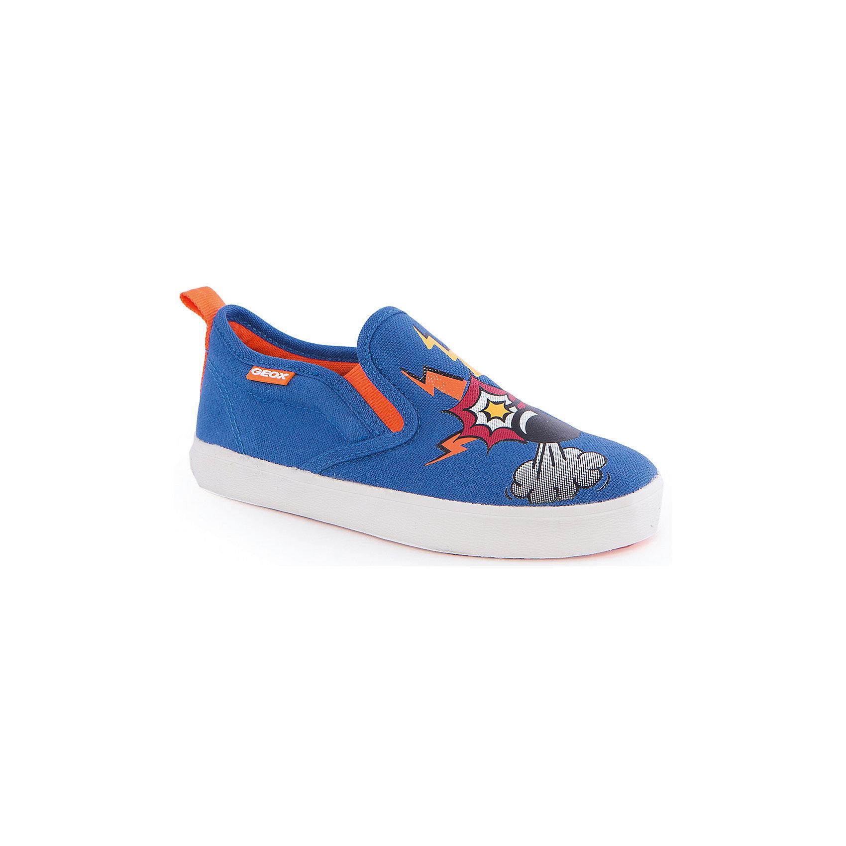 Кроссовки для мальчика GEOXКроссовки для мальчика от популярной марки GEOX (Геокс).<br><br>Легкие текстильные кроссовки с принтом - отличная обувь для нового весеннего сезона. Модель очень стильно и оригинально смотрится.<br>Производитель обуви заботится не только о внешнем виде, но и стабильно высоком качестве продукции. GEOX (Геокс) разработал специальную дышащую подошву, которая не пропускает влагу внутрь, а также высокотехнологичную стельку.<br><br>Отличительные особенности модели:<br><br>- цвет: темно-синий;<br>- декорированы принтом;<br>- гибкая водоотталкивающая подошва с дышащей мембраной;<br>- мягкий и легкий верх;<br>- стильный дизайн;<br>- без застежек;<br>- комфортное облегание;<br>- верх обуви и подкладка сделаны без использования хрома.<br><br>Дополнительная информация:<br><br>- Температурный режим: от +10° С до 25° С.<br><br>- Состав:<br><br>материал верха: текстиль<br>материал подкладки: текстиль<br>подошва: 100% резина<br><br>Кроссовки для мальчика GEOX (Геокс) (Геокс) можно купить в нашем магазине.<br><br>Ширина мм: 250<br>Глубина мм: 150<br>Высота мм: 150<br>Вес г: 250<br>Цвет: синий<br>Возраст от месяцев: 24<br>Возраст до месяцев: 36<br>Пол: Мужской<br>Возраст: Детский<br>Размер: 26,32,27,35,37,39,38,36,34,33,31,30,29,28<br>SKU: 4519569