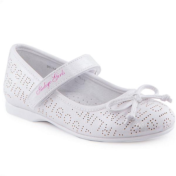 Туфли для девочки Indigo kidsТуфли<br>Туфли для девочки от известного бренда Indigo kids.<br><br>Нарядные и удобные туфли отлично подойдут к праздничному платью, а также помогут оживить повседневный наряд. Они легко надеваются, комфортно садятся по ноге. <br><br>Особенности модели:<br><br>- цвет: серебристо-белый;<br>- стильный дизайн;<br>- удобная колодка;<br>- подкладка из натуральной кожи;<br>- перфорация в передней части изделия, обеспечивающая вентиляцию;<br>- украшение - бант из кожи;<br>- устойчивая нескользящая подошва;<br>- застежка - липучка.<br><br>Дополнительная информация:<br><br>Состав:<br><br>верх – искусственная кожа;<br>подкладка - натуральная кожа;<br>подошва - ТЭП.<br><br>Туфли для девочки Indigo kids (Индиго Кидс) можно купить в нашем магазине.<br><br>Ширина мм: 227<br>Глубина мм: 145<br>Высота мм: 124<br>Вес г: 325<br>Цвет: белый<br>Возраст от месяцев: 96<br>Возраст до месяцев: 108<br>Пол: Женский<br>Возраст: Детский<br>Размер: 33,29,28,30,31,32<br>SKU: 4519866