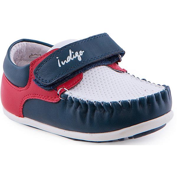 Мокасины для мальчика Indigo kidsМокасины<br>Мокасины для мальчика от известного бренда Indigo kids.<br><br>Модные легкие мокасины - прекрасный вариант обуви для теплого сезона. Они красивые и стильные, но в то же время очень удобные. Эту модель можно носить и с легкими брюками, и с джинсами. Мокасины легко надеваются, комфортно садятся по ноге. <br><br>Особенности модели:<br><br>- цвет: синий, белый, красный;<br>- стильный дизайн;<br>- удобная колодка;<br>- подкладка из натуральной кожи;<br>- есть перфорация для вентиляции ноги;<br>- подошва белая, нескользящая;<br>- белая прошивка;<br>- застежка: липучка.<br><br>Дополнительная информация:<br><br>Состав:<br><br>верх – искусственная кожа;<br>подкладка - натуральная кожа;<br>подошва - ТЭП.<br><br>Мокасины для мальчика Indigo kids (Индиго Кидс) можно купить в нашем магазине.<br><br>Ширина мм: 227<br>Глубина мм: 145<br>Высота мм: 124<br>Вес г: 325<br>Цвет: белый<br>Возраст от месяцев: 12<br>Возраст до месяцев: 15<br>Пол: Мужской<br>Возраст: Детский<br>Размер: 21,25,26,22,23,24<br>SKU: 4519894