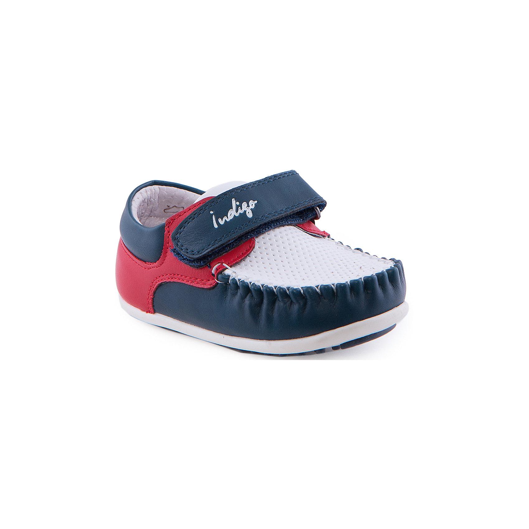 Мокасины для мальчика Indigo kidsМокасины<br>Мокасины для мальчика от известного бренда Indigo kids.<br><br>Модные легкие мокасины - прекрасный вариант обуви для теплого сезона. Они красивые и стильные, но в то же время очень удобные. Эту модель можно носить и с легкими брюками, и с джинсами. Мокасины легко надеваются, комфортно садятся по ноге. <br><br>Особенности модели:<br><br>- цвет: синий, белый, красный;<br>- стильный дизайн;<br>- удобная колодка;<br>- подкладка из натуральной кожи;<br>- есть перфорация для вентиляции ноги;<br>- подошва белая, нескользящая;<br>- белая прошивка;<br>- застежка: липучка.<br><br>Дополнительная информация:<br><br>Состав:<br><br>верх – искусственная кожа;<br>подкладка - натуральная кожа;<br>подошва - ТЭП.<br><br>Мокасины для мальчика Indigo kids (Индиго Кидс) можно купить в нашем магазине.<br><br>Ширина мм: 227<br>Глубина мм: 145<br>Высота мм: 124<br>Вес г: 325<br>Цвет: белый<br>Возраст от месяцев: 12<br>Возраст до месяцев: 15<br>Пол: Мужской<br>Возраст: Детский<br>Размер: 21,24,23,22,26,25<br>SKU: 4519894