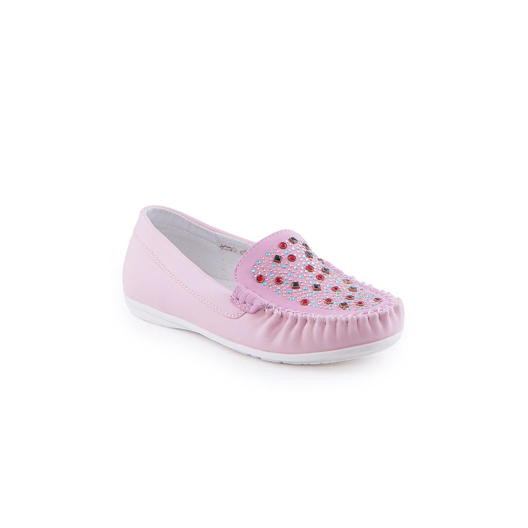 Мокасины для девочки Indigo kidsМокасины<br>Мокасины для девочки от известного бренда Indigo kids.<br><br>Стильные мокасины  - прекрасный вариант обуви для теплого сезона. Они нарядные и модные, но в то же время очень удобные. Эту модель можно носить и с юбкой, и с шортами, и с джинсами. Такие туфли легко надеваются, комфортно садятся по ноге. <br><br>Особенности модели:<br><br>- цвет: розовый;<br>- стильный дизайн;<br>- удобная колодка;<br>- подкладка из натуральной кожи;<br>- украшены стразами;<br>- подошва устойчивая, нескользящая;<br>- прошивка;<br>- без застежек.<br><br>Дополнительная информация:<br><br>Состав:<br><br>верх – искусственная кожа;<br>подкладка - натуральная кожа;<br>подошва - ТЭП.<br><br>Мокасины для девочки Indigo kids (Индиго Кидс) можно купить в нашем магазине.<br><br>Ширина мм: 227<br>Глубина мм: 145<br>Высота мм: 124<br>Вес г: 325<br>Цвет: розовый<br>Возраст от месяцев: 132<br>Возраст до месяцев: 144<br>Пол: Женский<br>Возраст: Детский<br>Размер: 35,34,36,31,32,33<br>SKU: 4519901