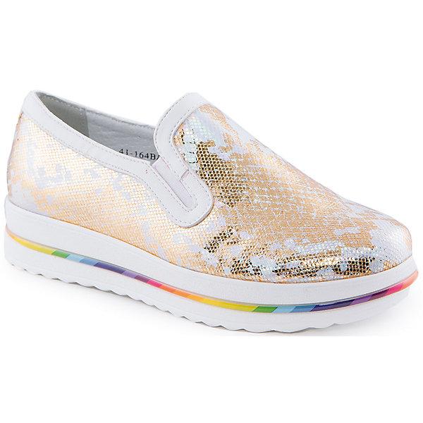 Слипоны для девочки Indigo kidsСлипоны<br>Ботинки для девочки от известного бренда Indigo kids<br><br>Золотистые полуботинки помогут создать интересный образ! Необычный дизайн делает эту модель стильной и привлекающей внимание. Кеды легко надеваются и комфортно садятся по ноге. <br><br>Особенности модели:<br><br>- цвет - золотистый;<br>- стильный дизайн;<br>- удобная колодка;<br>- натуральная кожаная подкладка;<br>- устойчивая белая подошва с яркой вставкой;<br>- легко надеваются благодаря резинкам.<br><br>Дополнительная информация:<br><br>Состав:<br><br>верх – искусственная кожа;<br>подкладка - натуральная кожа;<br>подошва - ТЭП.<br><br>Ботинки для девочки Indigo kids (Индиго Кидс) можно купить в нашем магазине.<br>Ширина мм: 262; Глубина мм: 176; Высота мм: 97; Вес г: 427; Цвет: золотой; Возраст от месяцев: 96; Возраст до месяцев: 108; Пол: Женский; Возраст: Детский; Размер: 32,30,35,34,33,31; SKU: 4519978;