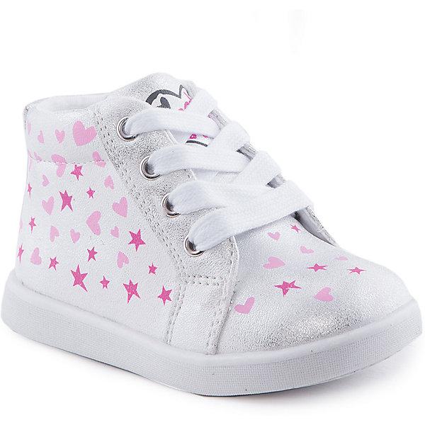 Ботинки для девочки Indigo kidsБотинки<br>Ботинки для девочки от известного бренда Indigo kids<br><br>Очень красивые нарядные ботинки могут быть и очень удобными! Яркий цвет делает эту модель стильной и привлекающей внимание. Ботинки легко надеваются благодаря шнуровке и молнии и комфортно садятся по ноге. <br><br>Особенности модели:<br><br>- цвет - белый, блестящие;<br>- стильный дизайн;<br>- удобная колодка;<br>- текстильная подкладка;<br>- украшены принтом из сердечек и звездочек;<br>- устойчивая подошва;<br>- контрастные шнурки;<br>- застежки: шнуровка, молния.<br><br>Дополнительная информация:<br><br>Температурный режим:<br>от +5° С до +20° С<br><br>Состав:<br><br>верх – искусственная кожа;<br>подкладка - текстиль;<br>подошва - ТЭП.<br><br>Ботинки для девочки Indigo kids (Индиго Кидс) можно купить в нашем магазине.<br><br>Ширина мм: 262<br>Глубина мм: 176<br>Высота мм: 97<br>Вес г: 427<br>Цвет: белый<br>Возраст от месяцев: 24<br>Возраст до месяцев: 24<br>Пол: Женский<br>Возраст: Детский<br>Размер: 25,24,23,21,26,22<br>SKU: 4519992