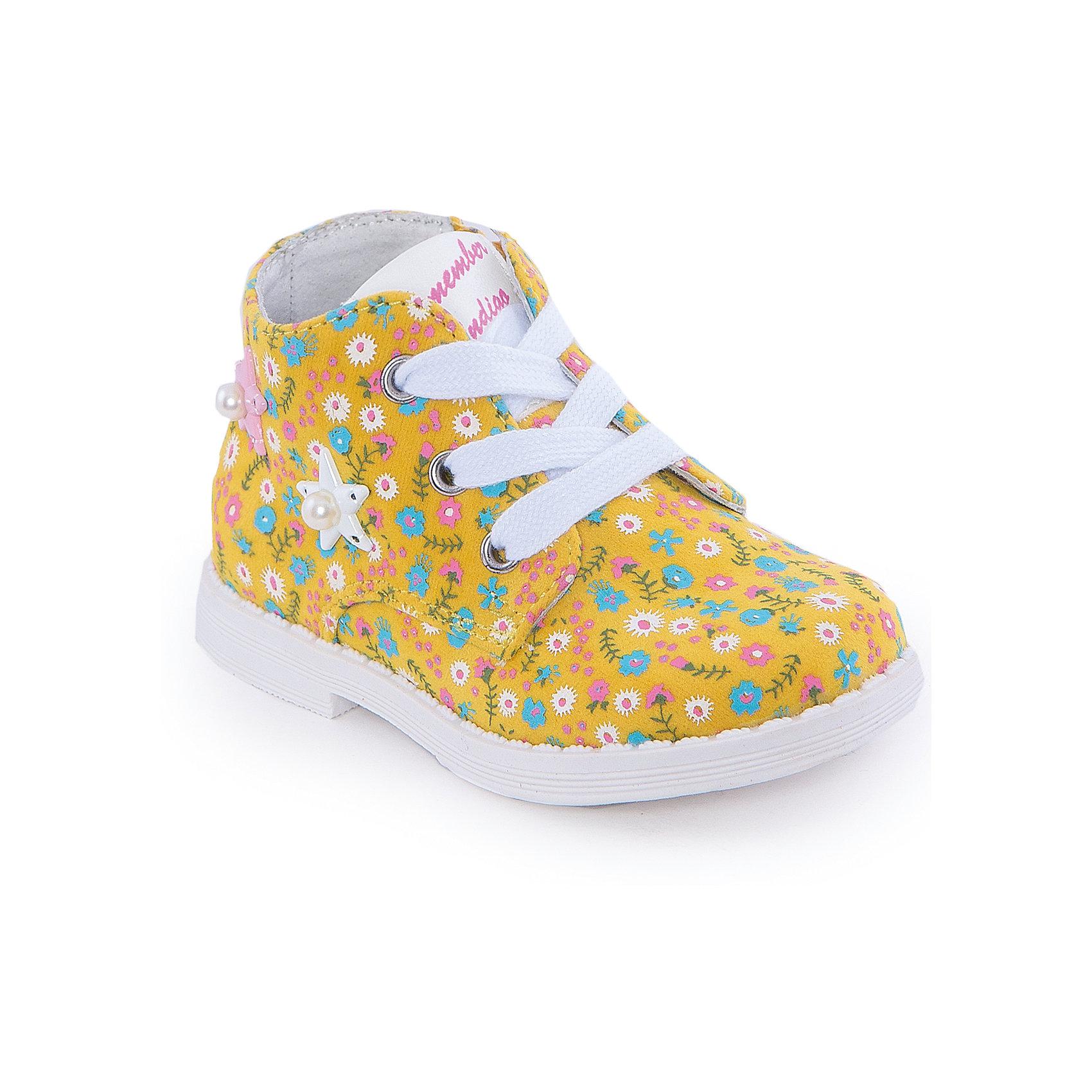 Ботинки для девочки Indigo kidsБотинки<br>Ботинки для девочки от известного бренда Indigo kids <br> <br>Яркие и нарядные ботинки могут быть и очень удобными! Насыщенный цвет делает эту модель стильной и привлекающей внимание. Ботинки легко надеваются благодаря шнуровке и молнии и комфортно садятся по ноге. <br> <br>Особенности модели: <br> <br>- цвет - зеленый; <br>- стильный дизайн; <br>- удобная колодка; <br>- подкладка из натуральной кожи; <br>- украшены цветочным принтом и звездочками с жемчужинами; <br>- устойчивая подошва; <br>- контрастные шнурки; <br>- застежки: шнуровка, молния. <br> <br>Дополнительная информация: <br> <br>Температурный режим: <br>от +5° С до +20° С <br> <br>Состав: <br> <br>верх – текстиль; <br>подкладка - натуральная кожа; <br>подошва - ТЭП. <br> <br>Ботинки для девочки Indigo kids (Индиго Кидс) можно купить в нашем магазине.<br><br>Ширина мм: 262<br>Глубина мм: 176<br>Высота мм: 97<br>Вес г: 427<br>Цвет: желтый<br>Возраст от месяцев: 21<br>Возраст до месяцев: 24<br>Пол: Женский<br>Возраст: Детский<br>Размер: 24,21,26,25,23,22<br>SKU: 4520006