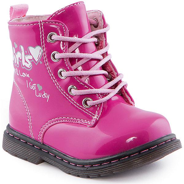 Ботинки для девочки Indigo kidsБотинки<br>Ботинки для девочки от известного бренда Indigo kids<br><br>Очень красивые нарядные ботинки могут быть и очень удобными! Яркий цвет делает эту модель стильной и привлекающей внимание. Ботинки легко надеваются благодаря шнуровке и молнии и комфортно садятся по ноге. <br><br>Особенности модели:<br><br>- цвет - розовый;<br>- лакированная кожа;<br>- стильный дизайн;<br>- удобная колодка;<br>- байковая подкладка;<br>- украшены принтом;<br>- устойчивая подошва;<br>- высокие;<br>- застежки: шнуровка, молния.<br><br>Дополнительная информация:<br><br>Температурный режим:<br>от +5° С до +15° С<br><br>Состав:<br><br>верх – искусственная кожа;<br>подкладка - байка;<br>подошва - ТЭП.<br><br>Ботинки для девочки Indigo kids (Индиго Кидс) можно купить в нашем магазине.<br><br>Ширина мм: 262<br>Глубина мм: 176<br>Высота мм: 97<br>Вес г: 427<br>Цвет: фуксия<br>Возраст от месяцев: 12<br>Возраст до месяцев: 15<br>Пол: Женский<br>Возраст: Детский<br>Размер: 21,24,23,25,26,22<br>SKU: 4520013