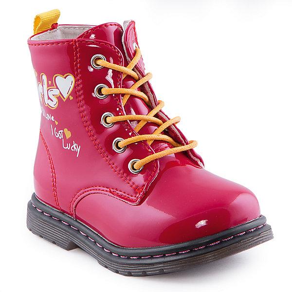 Ботинки для девочки Indigo kidsБотинки<br>Ботинки для девочки от известного бренда Indigo kids<br><br>Очень красивые нарядные ботинки могут быть и очень удобными! Яркий цвет делает эту модель стильной и привлекающей внимание. Ботинки легко надеваются благодаря шнуровке и молнии и комфортно садятся по ноге. <br><br>Особенности модели:<br><br>- цвет - красный;<br>- лакированная кожа;<br>- стильный дизайн;<br>- удобная колодка;<br>- байковая подкладка;<br>- украшены принтом;<br>- устойчивая подошва;<br>- высокие;<br>- застежки: шнуровка, молния.<br><br>Дополнительная информация:<br><br>Температурный режим:<br>от +5° С до +15° С<br><br>Состав:<br><br>верх – искусственная кожа;<br>подкладка - байка;<br>подошва - ТЭП.<br><br>Ботинки для девочки Indigo kids (Индиго Кидс) можно купить в нашем магазине.<br>Ширина мм: 262; Глубина мм: 176; Высота мм: 97; Вес г: 427; Цвет: красный; Возраст от месяцев: 12; Возраст до месяцев: 15; Пол: Женский; Возраст: Детский; Размер: 21,26,22,25,24,23; SKU: 4520020;