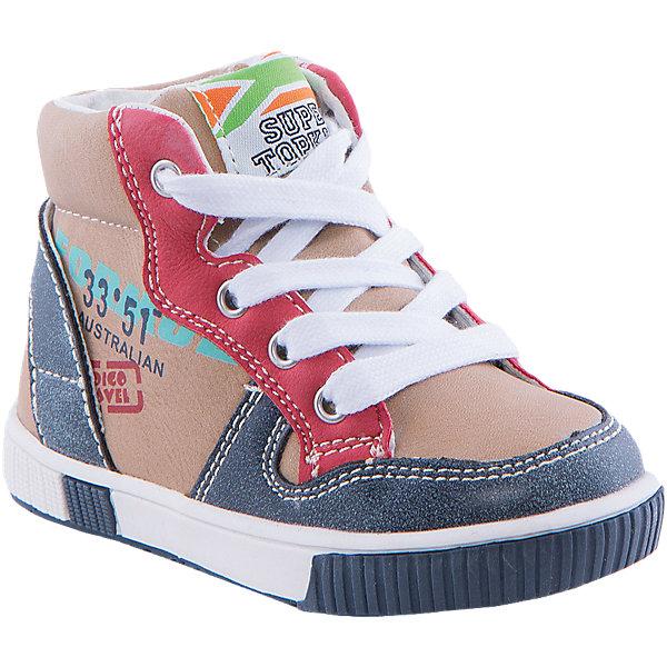 Ботинки для мальчика Indigo kidsОбувь для малышей<br>Ботинки для мальчика от известного бренда Indigo kids<br><br>Стильные и удобные ботинки созданы специально для мальчиков. Ботинки легко надеваются и комфортно садятся по ноге. <br><br>Особенности модели:<br><br>- цвет - бежевый, синий, красный;<br>- стильный дизайн;<br>- удобная колодка;<br>- кожаная подкладка;<br>- качественная контрастная прострочка;<br>- декорированы принтом;<br>- устойчивая белая подошва;<br>- застежки: шнуровка, молния.<br><br><br>Дополнительная информация:<br><br>Температурный режим:<br>от +5° С до +15° С<br><br>Состав:<br><br>верх – искусственная кожа;<br>подкладка - натуральная кожа;<br>подошва - ТЭП.<br><br>Ботинки для мальчика Indigo kids (Индиго Кидс) можно купить в нашем магазине.<br><br>Ширина мм: 262<br>Глубина мм: 176<br>Высота мм: 97<br>Вес г: 427<br>Цвет: бежевый<br>Возраст от месяцев: 18<br>Возраст до месяцев: 21<br>Пол: Мужской<br>Возраст: Детский<br>Размер: 23,22,24,27,25,26<br>SKU: 4520041