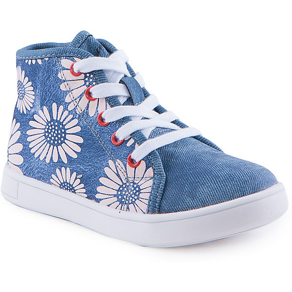 Ботинки для девочки Indigo kidsБотинки<br>Ботинки для девочки от известного бренда Indigo kids<br><br>Оригинальные полуботинки помогут создать интересный образ! Необычный дизайн делает эту модель стильной и привлекающей внимание. Они легко надеваются и комфортно садятся по ноге. <br><br>Особенности модели:<br><br>- цвет - под синюю джинсу;<br>- стильный дизайн;<br>- удобная колодка;<br>- натуральная кожаная подкладка;<br>- устойчивая белая подошва;<br>- крупный цветочный принт;<br>- шнуровка, молния.<br><br>Дополнительная информация:<br><br>Состав:<br><br>верх – искусственная кожа;<br>подкладка - натуральная кожа;<br>подошва - ТЭП.<br><br>Ботинки для девочки Indigo kids (Индиго Кидс) можно купить в нашем магазине.<br>Ширина мм: 262; Глубина мм: 176; Высота мм: 97; Вес г: 427; Цвет: голубой; Возраст от месяцев: 60; Возраст до месяцев: 72; Пол: Женский; Возраст: Детский; Размер: 29,30,31,27,26,28; SKU: 4520069;