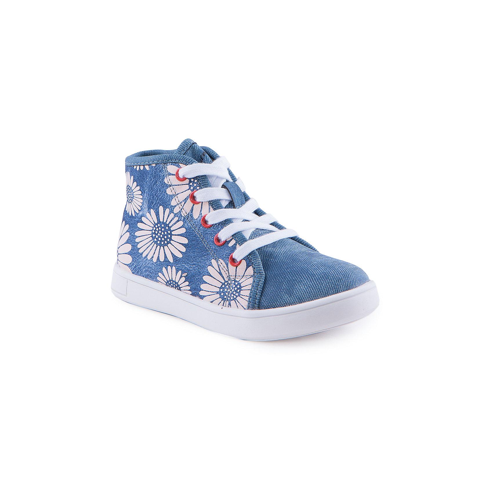 Ботинки для девочки Indigo kidsБотинки<br>Ботинки для девочки от известного бренда Indigo kids<br><br>Оригинальные полуботинки помогут создать интересный образ! Необычный дизайн делает эту модель стильной и привлекающей внимание. Они легко надеваются и комфортно садятся по ноге. <br><br>Особенности модели:<br><br>- цвет - под синюю джинсу;<br>- стильный дизайн;<br>- удобная колодка;<br>- натуральная кожаная подкладка;<br>- устойчивая белая подошва;<br>- крупный цветочный принт;<br>- шнуровка, молния.<br><br>Дополнительная информация:<br><br>Состав:<br><br>верх – искусственная кожа;<br>подкладка - натуральная кожа;<br>подошва - ТЭП.<br><br>Ботинки для девочки Indigo kids (Индиго Кидс) можно купить в нашем магазине.<br><br>Ширина мм: 262<br>Глубина мм: 176<br>Высота мм: 97<br>Вес г: 427<br>Цвет: голубой<br>Возраст от месяцев: 72<br>Возраст до месяцев: 84<br>Пол: Женский<br>Возраст: Детский<br>Размер: 29,30,28,26,27,31<br>SKU: 4520069