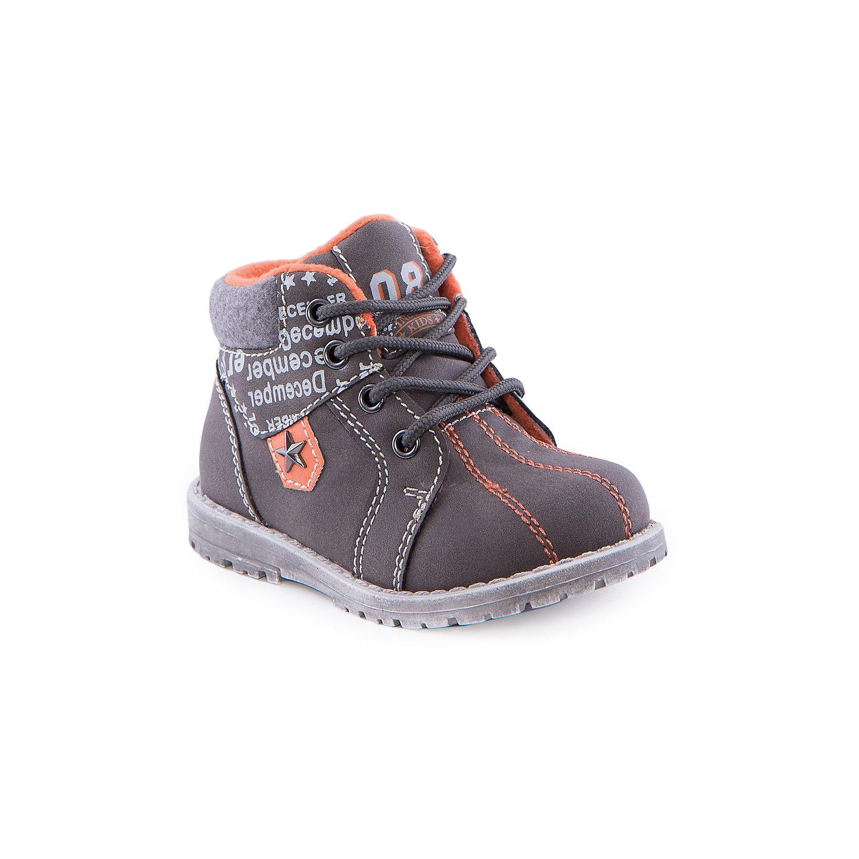 Ботинки для мальчика Indigo kidsБотинки для мальчика от известного бренда Indigo kids<br><br>Стильные ботинки могут быть и очень удобными! Оригинальный дизайн делает эту модель модной и привлекающей внимание. Ботинки легко надеваются благодаря шнуровке и молнии и комфортно садятся по ноге. <br><br>Особенности модели:<br><br>- цвет - хаки, оранжевый;<br>- стильный дизайн;<br>- удобная колодка;<br>- байковая подкладка;<br>- украшены принтом;<br>- устойчивая подошва;<br>- высокие;<br>- белая прошивка;<br>- застежки: шнуровка, молния.<br><br>Дополнительная информация:<br><br>Температурный режим:<br>от +5° С до +15° С<br><br>Состав:<br><br>верх – искусственная кожа;<br>подкладка - байка;<br>подошва - ТЭП.<br><br>Ботинки для мальчика Indigo kids (Индиго Кидс) можно купить в нашем магазине.<br><br>Ширина мм: 262<br>Глубина мм: 176<br>Высота мм: 97<br>Вес г: 427<br>Цвет: хаки<br>Возраст от месяцев: 12<br>Возраст до месяцев: 15<br>Пол: Мужской<br>Возраст: Детский<br>Размер: 21,25,22,23,24,26<br>SKU: 4520139