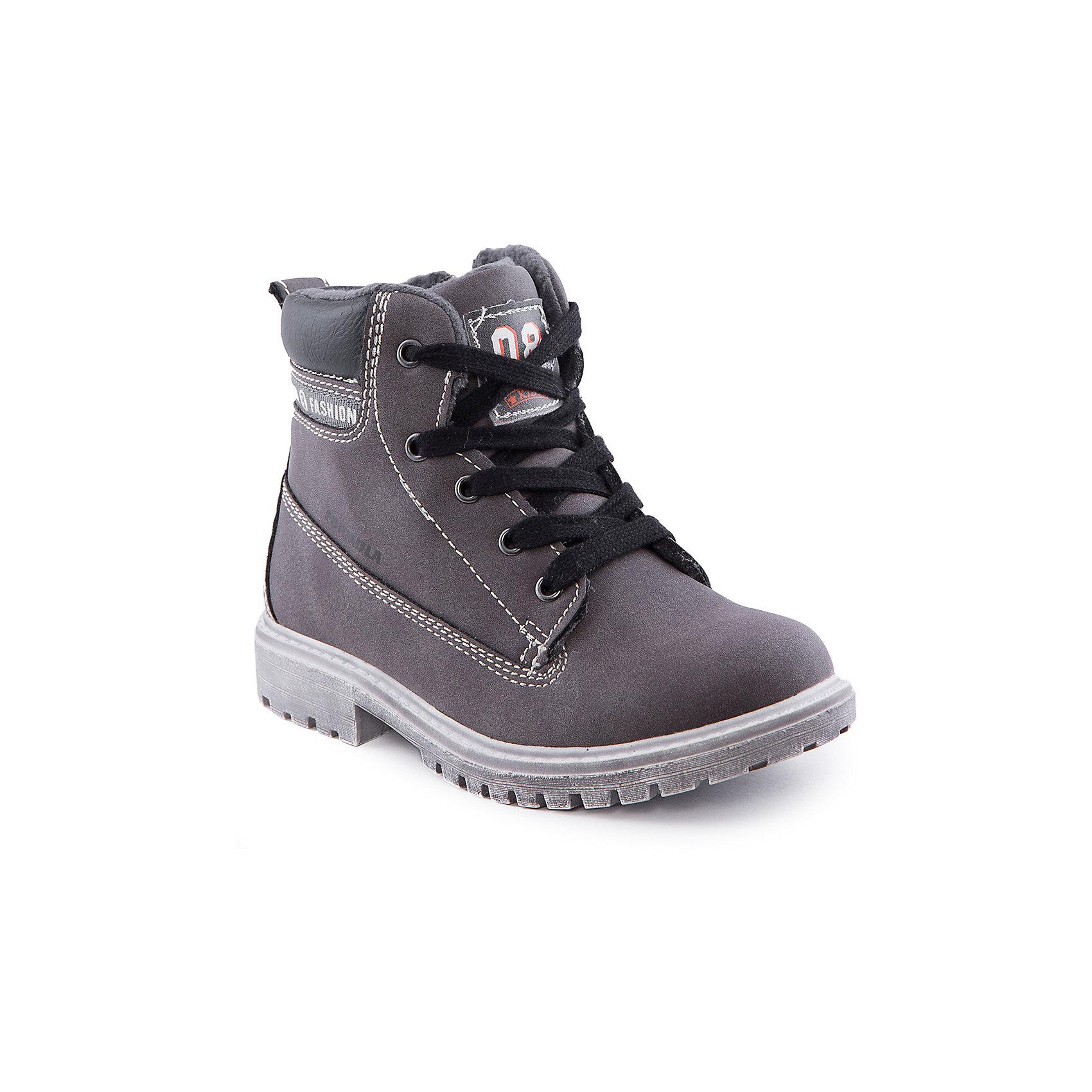 Ботинки для мальчика Indigo kidsБотинки для мальчика от известного бренда Indigo kids<br><br>Стильные ботинки под замшу, очень удобные. Оригинальный дизайн делает эту модель стильной и привлекающей внимание. Ботинки легко надеваются благодаря шнуровке и молнии и комфортно садятся по ноге. <br><br>Особенности модели:<br><br>- цвет - серый;<br>- под замшу;<br>- стильный дизайн;<br>- удобная колодка;<br>- байковая подкладка;<br>- украшены принтом;<br>- устойчивая подошва;<br>- высокие;<br>- белая прострочка;<br>- застежки: шнуровка, молния.<br><br>Дополнительная информация:<br><br>Температурный режим:<br>от +5° С до +15° С<br><br>Состав:<br><br>верх – искусственная кожа;<br>подкладка - байка;<br>подошва - ТЭП.<br><br>Ботинки для мальчика Indigo kids (Индиго Кидс) можно купить в нашем магазине.<br><br>Ширина мм: 262<br>Глубина мм: 176<br>Высота мм: 97<br>Вес г: 427<br>Цвет: серый<br>Возраст от месяцев: 96<br>Возраст до месяцев: 108<br>Пол: Мужской<br>Возраст: Детский<br>Размер: 32,30,28,29,33,31<br>SKU: 4520167