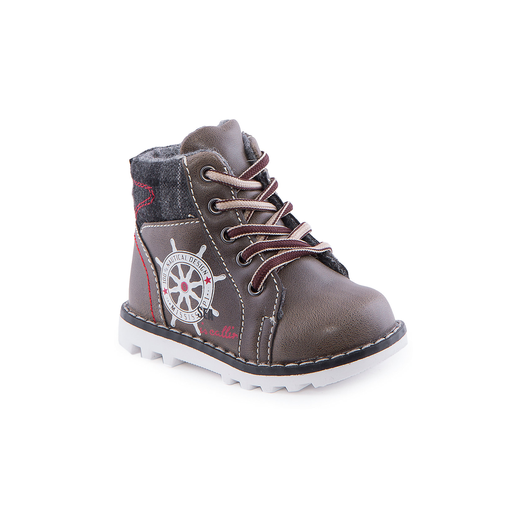 Ботинки для мальчика Indigo kidsБотинки для мальчика от известного бренда Indigo kids<br><br>Модные ботинки обеспечат детским ножкам удобство и тепло. Ботинки легко надеваются благодаря шнуровке и молнии и комфортно садятся по ноге. <br><br>Особенности модели:<br><br>- цвет - коричневый;<br>- стильный дизайн;<br>- удобная колодка;<br>- байковая подкладка;<br>- украшены принтом якорь;<br>- устойчивая подошва;<br>- высокие;<br>- контрастная прострочка;<br>- застежки: шнуровка, молния.<br><br>Дополнительная информация:<br><br>Температурный режим:<br>от +5° С до +15° С<br><br>Состав:<br><br>верх – искусственная кожа;<br>подкладка - байка;<br>подошва - ТЭП.<br><br>Ботинки для мальчика Indigo kids (Индиго Кидс) можно купить в нашем магазине.<br><br>Ширина мм: 262<br>Глубина мм: 176<br>Высота мм: 97<br>Вес г: 427<br>Цвет: хаки<br>Возраст от месяцев: 15<br>Возраст до месяцев: 18<br>Пол: Мужской<br>Возраст: Детский<br>Размер: 22,21,25,20,24,23<br>SKU: 4520188