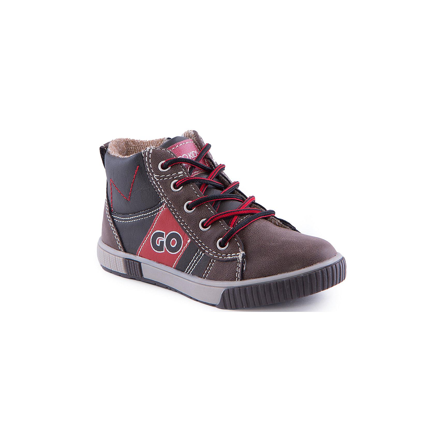 Кеды для мальчика Indigo kidsБотинки для мальчика от известного бренда Indigo kids<br><br>Модные кеды могут быть и очень удобными! Эти удобные кеды легко надеваются благодаря шнуровке и молнии и комфортно садятся по ноге. <br><br>Особенности модели:<br><br>- цвет - коричневый;<br>- стильный дизайн;<br>- удобная колодка;<br>- текстильная подкладка;<br>- украшены контрастной прострочкой и вставками;<br>- устойчивая подошва;<br>- контрастные шнурки;<br>- застежки: шнуровка, молния.<br><br>Дополнительная информация:<br><br>Температурный режим:<br>от +5° С до +20° С<br><br>Состав:<br><br>верх – искусственная кожа;<br>подкладка - текстиль;<br>подошва - ТЭП.<br><br>Ботинки для девочки Indigo kids (Индиго Кидс) можно купить в нашем магазине.<br><br>Ширина мм: 262<br>Глубина мм: 176<br>Высота мм: 97<br>Вес г: 427<br>Цвет: серый<br>Возраст от месяцев: 24<br>Возраст до месяцев: 24<br>Пол: Мужской<br>Возраст: Детский<br>Размер: 25,27,30,29,28,26<br>SKU: 4520202