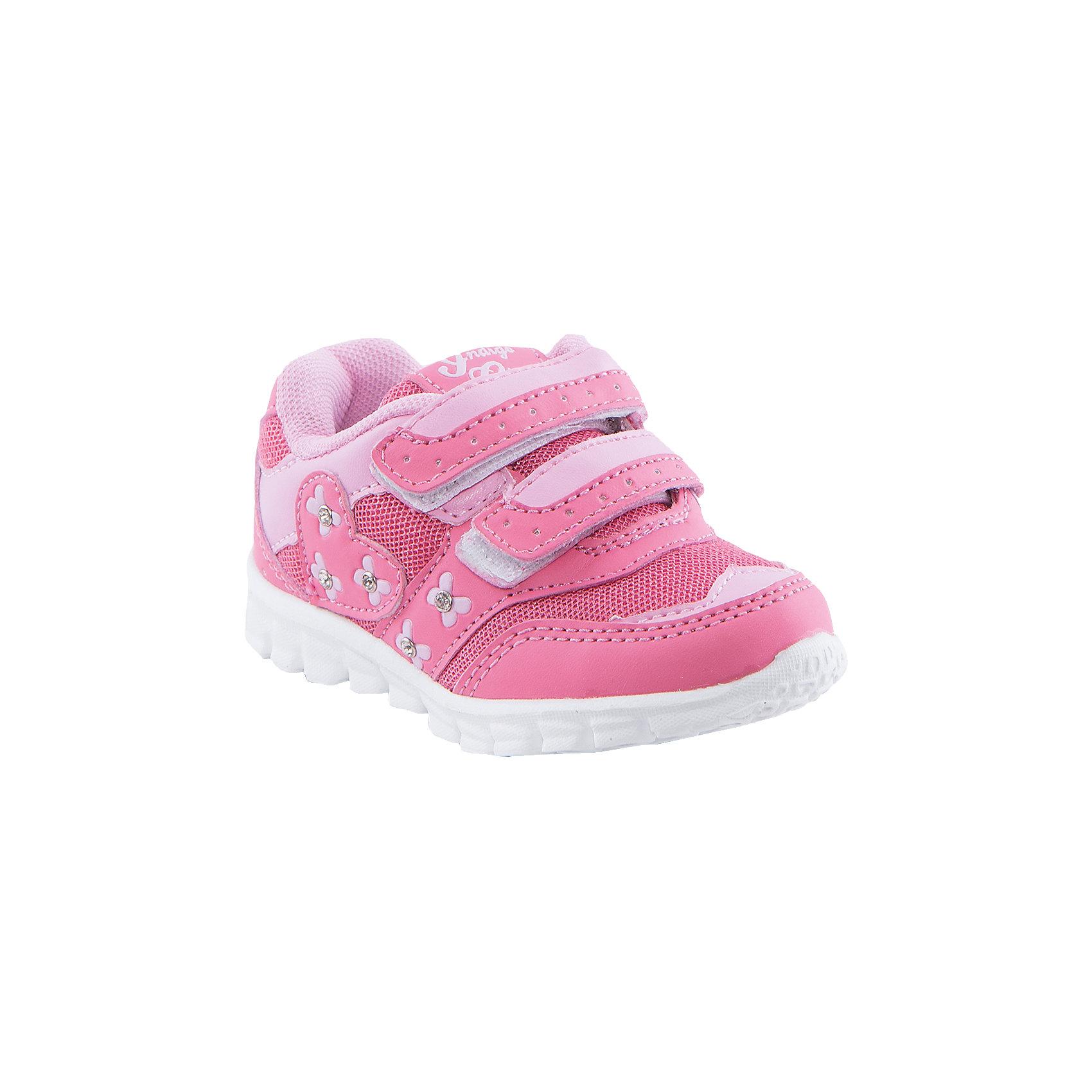 Кроссовки для девочки Indigo kidsБотинки для девочки от известного бренда Indigo kids<br><br>Модные розовые кроссовки позволяют ножкам ребенка свободно дышать. Они легко надеваются и комфортно садятся по ноге. <br><br>Особенности модели:<br><br>- цвет - розовый;<br>- стильный дизайн;<br>- удобная колодка;<br>- текстильная подкладка;<br>- украшены стразами;<br>- устойчивая подошва;<br>- дышащая ткань;<br>- застежки: липучки.<br><br>Дополнительная информация:<br><br>Температурный режим:<br>от +10° С до +20° С<br><br>Состав:<br><br>верх – искусственная кожа/текстиль;<br>подкладка - текстиль;<br>подошва - ТЭП.<br><br>Ботинки для девочки Indigo kids (Индиго Кидс) можно купить в нашем магазине.<br><br>Ширина мм: 262<br>Глубина мм: 176<br>Высота мм: 97<br>Вес г: 427<br>Цвет: розовый<br>Возраст от месяцев: 12<br>Возраст до месяцев: 15<br>Пол: Женский<br>Возраст: Детский<br>Размер: 21,24,26,25,23,22<br>SKU: 4520223