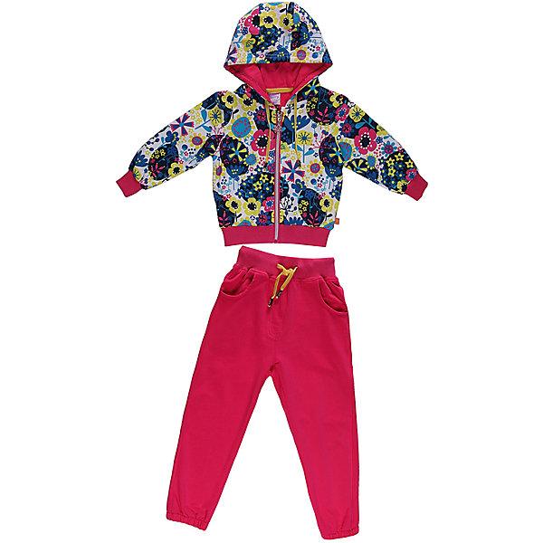 Спортивный костюм для девочки Sweet BerryКомплекты<br>Яркий  комлект из плотного трикотажа.  Манжеты, низ толстовки и пояс брюк- трикотажная резинка. Пояс регулируется шнурком.<br>Состав:<br>95% хлопок, 5% эластан<br><br>Ширина мм: 247<br>Глубина мм: 16<br>Высота мм: 140<br>Вес г: 225<br>Цвет: розовый<br>Возраст от месяцев: 9<br>Возраст до месяцев: 12<br>Пол: Женский<br>Возраст: Детский<br>Размер: 80,86,92,98<br>SKU: 4520260