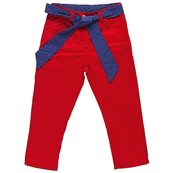 Брюки для девочки Sweet BerryДжинсы и брючки<br>Летние брюки на девочку, из тонкого поплина. Четыре функциональных кармана, Модель дополнена текстильным поясом в горох. Есть утяжки.<br>Состав:<br>100% хлопок<br><br>Ширина мм: 215<br>Глубина мм: 88<br>Высота мм: 191<br>Вес г: 336<br>Цвет: красный<br>Возраст от месяцев: 9<br>Возраст до месяцев: 12<br>Пол: Женский<br>Возраст: Детский<br>Размер: 80,86,92,98<br>SKU: 4520323