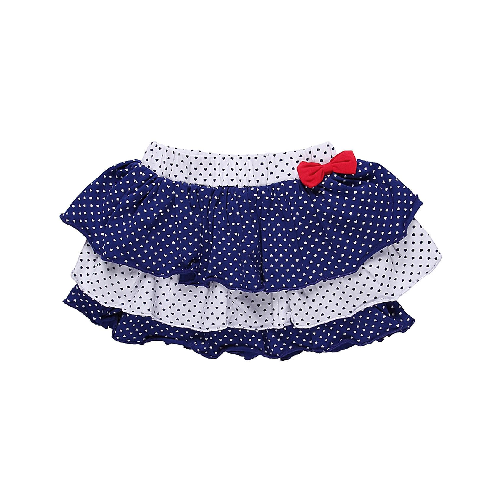 Юбка для девочки Sweet BerryТрикотажная юбка. Пояс на резинке с декоративным  бантом из велюра.<br>Состав:<br>95% хлопок, 5% эластан<br><br>Ширина мм: 207<br>Глубина мм: 10<br>Высота мм: 189<br>Вес г: 183<br>Цвет: белый/синий<br>Возраст от месяцев: 18<br>Возраст до месяцев: 24<br>Пол: Женский<br>Возраст: Детский<br>Размер: 92,86,80,98<br>SKU: 4520328