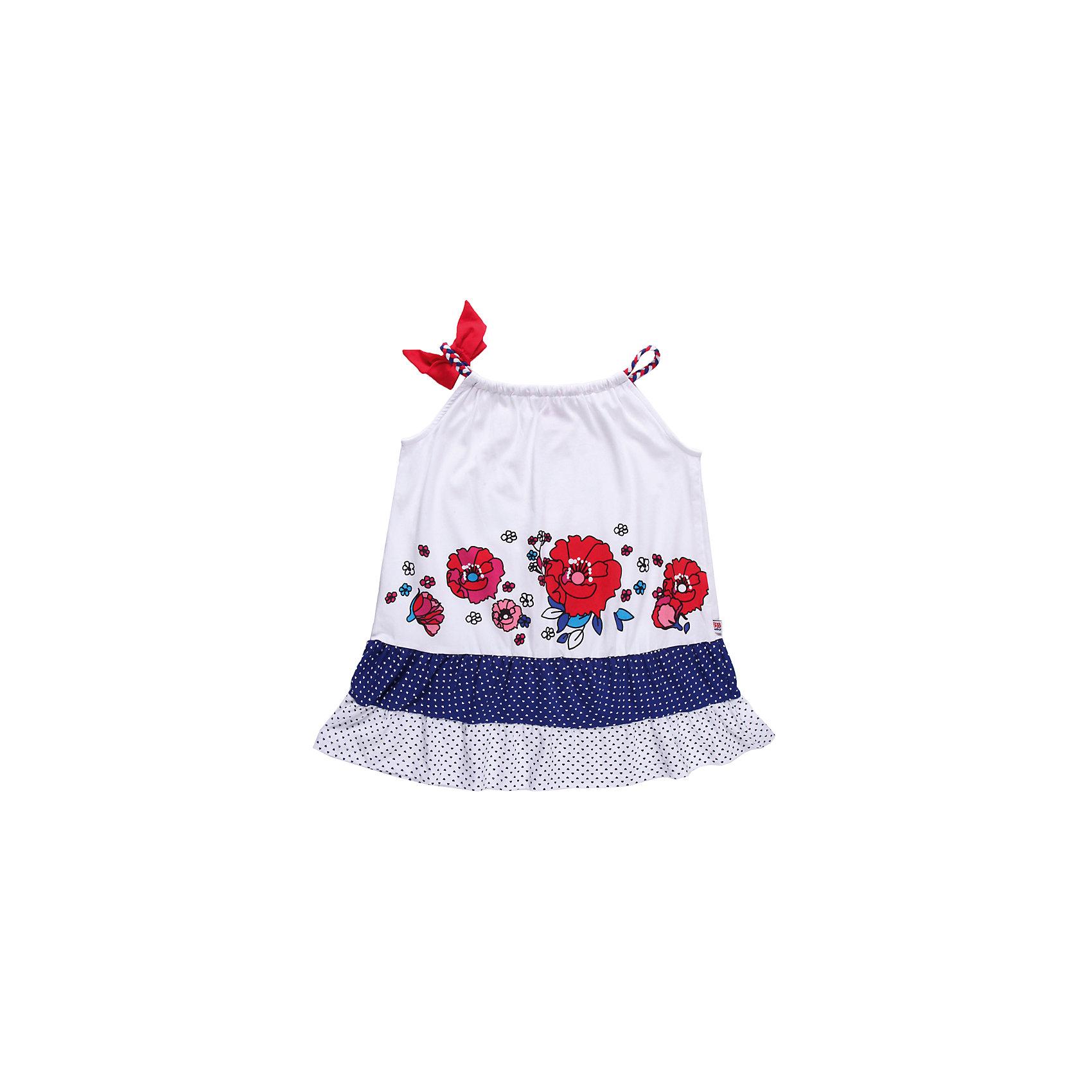 Платье для девочки Sweet BerryРомантичное платье, украшенное оборками и принтованными цветами<br>Состав:<br>95% хлопок, 5% эластан<br><br>Ширина мм: 236<br>Глубина мм: 16<br>Высота мм: 184<br>Вес г: 177<br>Цвет: синий/красный<br>Возраст от месяцев: 9<br>Возраст до месяцев: 12<br>Пол: Женский<br>Возраст: Детский<br>Размер: 80,98,86,92<br>SKU: 4520373