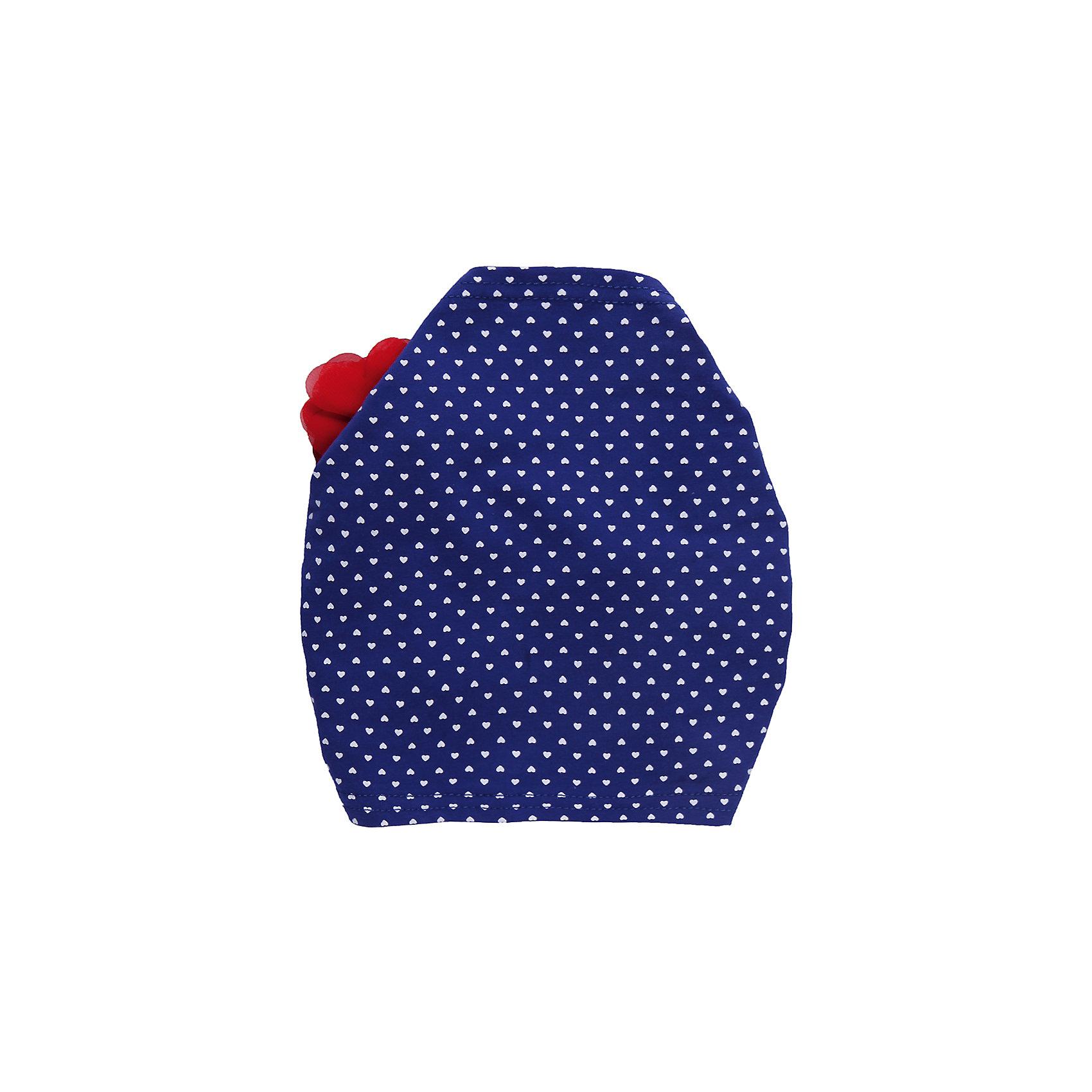 Повязка на голову для девочки Sweet BerryТрикотажная повязка на голову. Регулируется резинкой. Декорирована цветком.<br>Состав:<br>95% хлопок, 5% эластан<br><br>Ширина мм: 89<br>Глубина мм: 117<br>Высота мм: 44<br>Вес г: 155<br>Цвет: синий/красный<br>Возраст от месяцев: 12<br>Возраст до месяцев: 18<br>Пол: Женский<br>Возраст: Детский<br>Размер: 48,50,52<br>SKU: 4520402