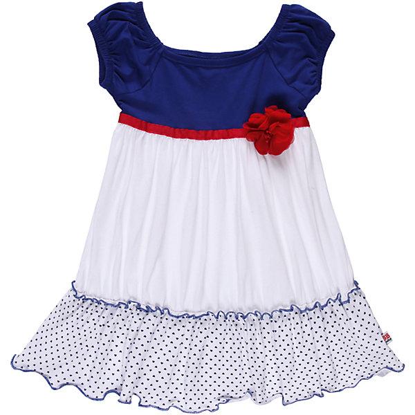 Платье для девочки Sweet BerryПлатья<br>Трикотажное платье из эластичного трикотажа. Украшено лентой и цветком.Горловина регулируется эластичной резинкой.<br>Состав:<br>95% хлопок, 5% эластан<br><br>Ширина мм: 236<br>Глубина мм: 16<br>Высота мм: 184<br>Вес г: 177<br>Цвет: синий/белый<br>Возраст от месяцев: 9<br>Возраст до месяцев: 12<br>Пол: Женский<br>Возраст: Детский<br>Размер: 80,92,86,98<br>SKU: 4520425