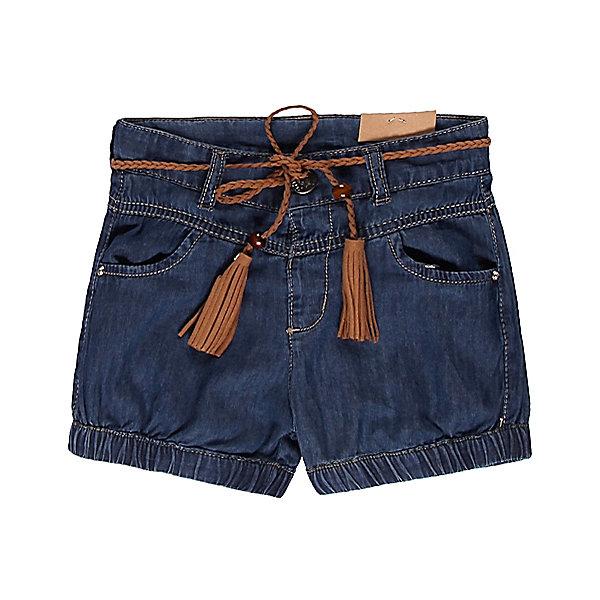 Шорты джинсовые для девочки Sweet BerryШорты и бриджи<br>Стильные темно-синие джинсовые шорты для девочки из 100% хлопка. На талии контрастный поясок с кисточками из замши.  Застежка выполнена в виде крючка. Имеются два врезных кармана.<br>Состав:<br>100% хлопок<br><br>Ширина мм: 191<br>Глубина мм: 10<br>Высота мм: 175<br>Вес г: 273<br>Цвет: синий<br>Возраст от месяцев: 9<br>Возраст до месяцев: 12<br>Пол: Женский<br>Возраст: Детский<br>Размер: 98,86,92,80<br>SKU: 4520430