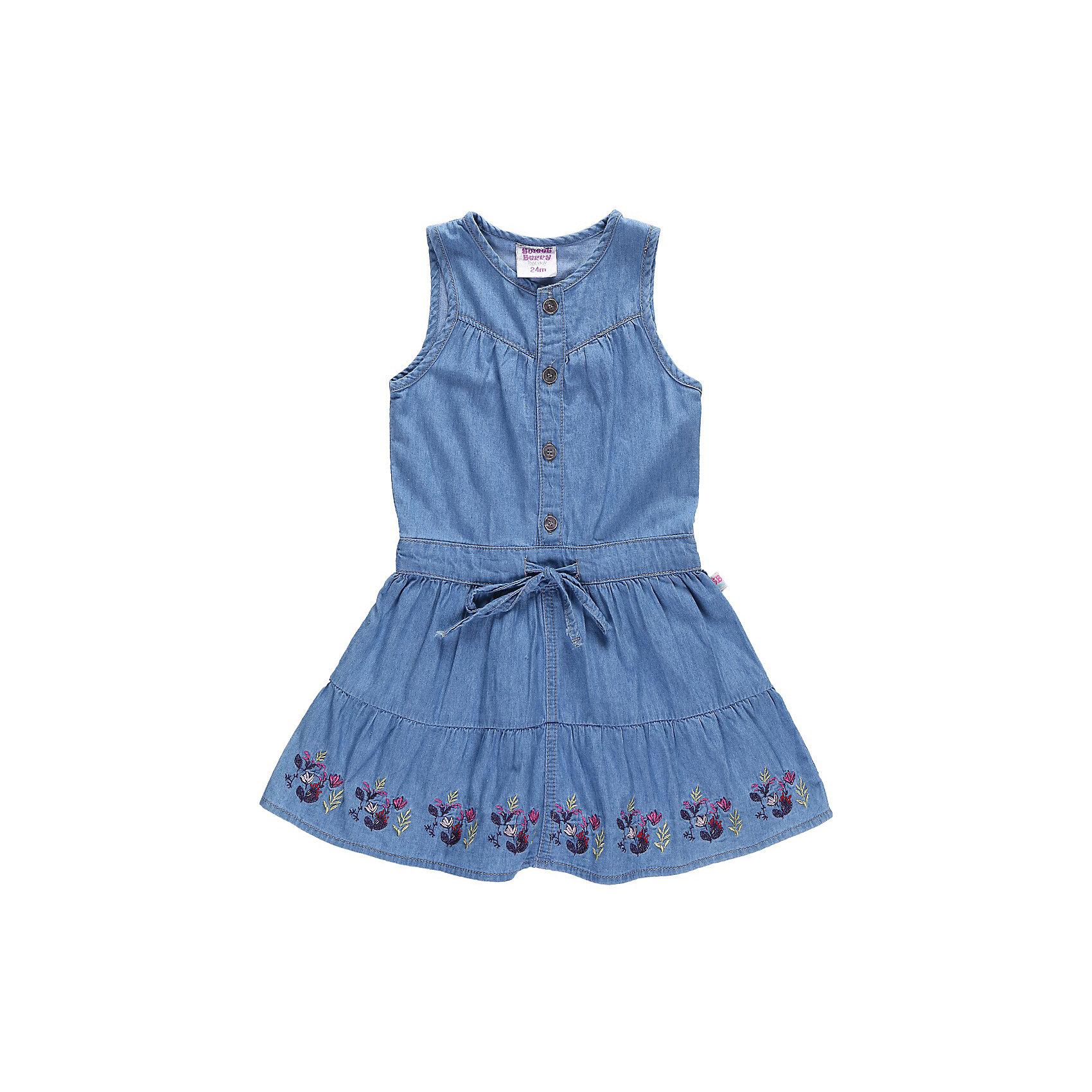 Платье джинсовое для девочки Sweet BerryДжинсовая одежда<br>Платье из тонкой джинсы на кнопках.<br>Состав:<br>100% хлопок<br><br>Ширина мм: 236<br>Глубина мм: 16<br>Высота мм: 184<br>Вес г: 177<br>Цвет: синий<br>Возраст от месяцев: 9<br>Возраст до месяцев: 12<br>Пол: Женский<br>Возраст: Детский<br>Размер: 80,98,86,92<br>SKU: 4520440