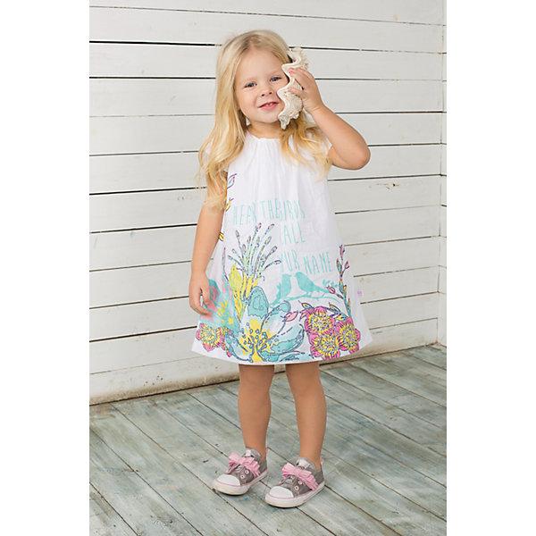 Платье для девочки Sweet BerryПлатья<br>Платье на девочку из тонкого поплина, декорирована складочками по горловине и цветочным принтом с глиттером.<br>Состав:<br>100% хлопок<br><br>Ширина мм: 236<br>Глубина мм: 16<br>Высота мм: 184<br>Вес г: 177<br>Цвет: белый<br>Возраст от месяцев: 9<br>Возраст до месяцев: 12<br>Пол: Женский<br>Возраст: Детский<br>Размер: 80,86,92,98<br>SKU: 4520445