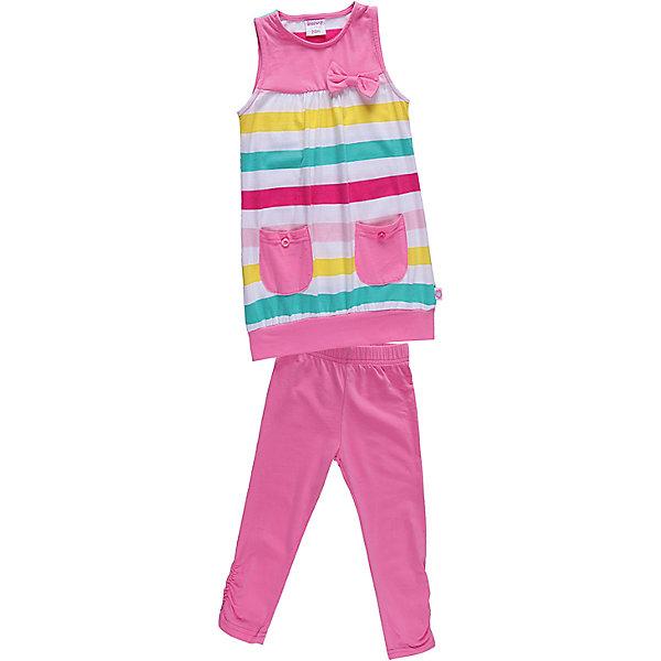 Комплект для девочки: платье и леггинсы Sweet BerryКомплекты<br>Удобный комплект из эластичного трикотажа.<br>Состав:<br>95% хлопок, 5% эластан<br>Ширина мм: 236; Глубина мм: 16; Высота мм: 184; Вес г: 177; Цвет: белый; Возраст от месяцев: 9; Возраст до месяцев: 12; Пол: Женский; Возраст: Детский; Размер: 80,86,92,98; SKU: 4520475;