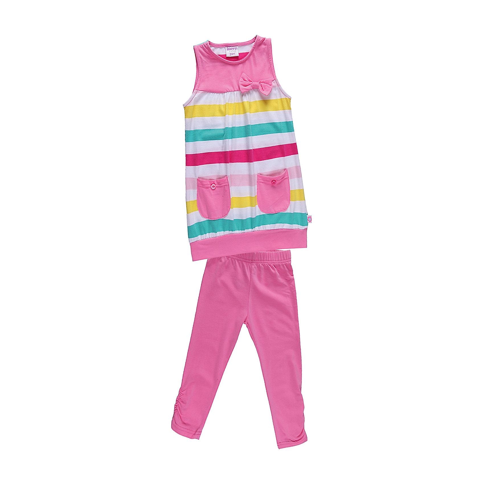 Комплект для девочки: платье и леггинсы Sweet BerryУдобный комплект из эластичного трикотажа.<br>Состав:<br>95% хлопок, 5% эластан<br><br>Ширина мм: 236<br>Глубина мм: 16<br>Высота мм: 184<br>Вес г: 177<br>Цвет: разноцветный<br>Возраст от месяцев: 9<br>Возраст до месяцев: 12<br>Пол: Женский<br>Возраст: Детский<br>Размер: 80,86,92,98<br>SKU: 4520475