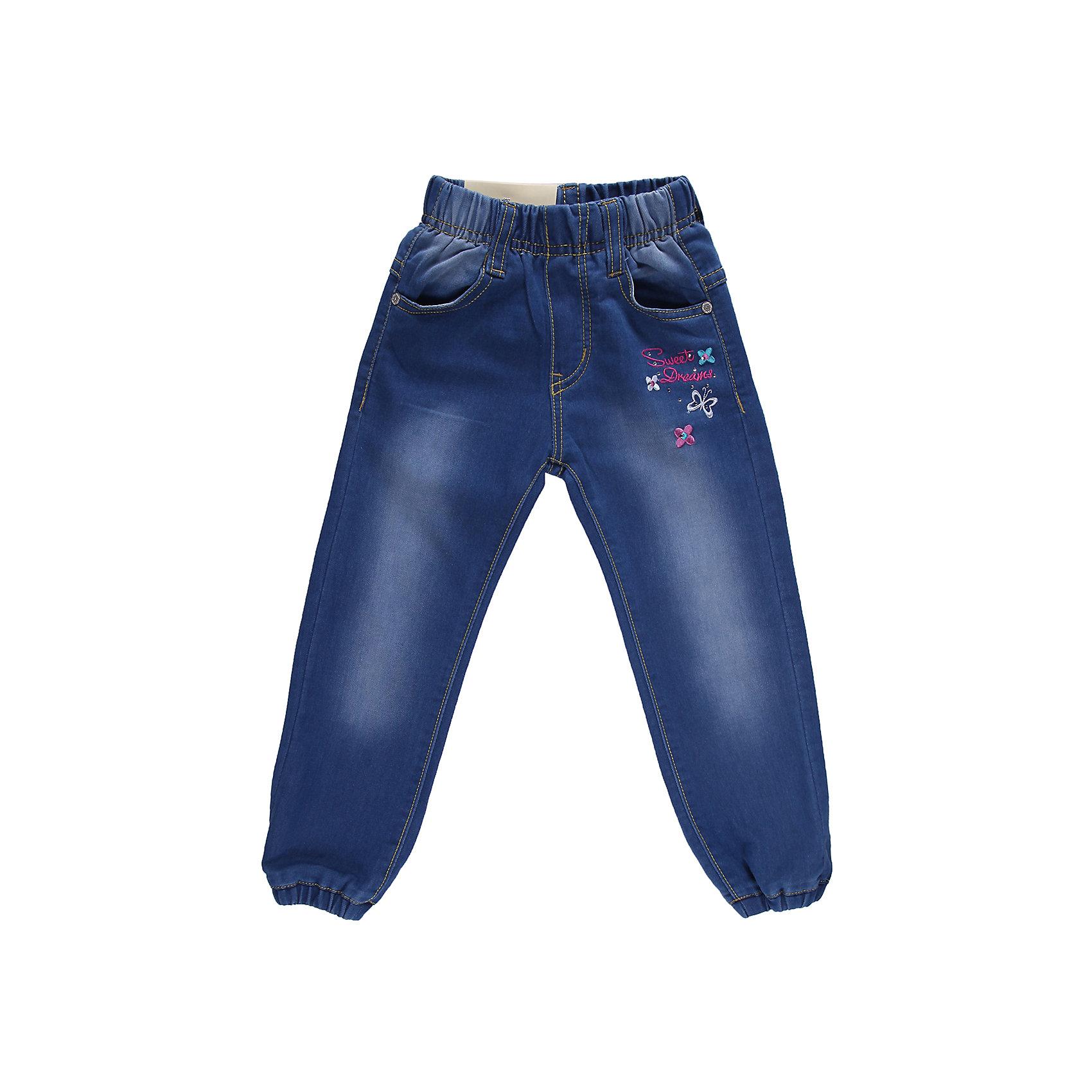 Джинсы для девочки Sweet BerryДжинсовая одежда<br>Джинсы на девочку, украшены вышивкой и  оригинальной металлофурнитурой. Отличный вариант на каждый день. <br>Состав:<br>98% хлопок 2%эластан<br><br>Ширина мм: 215<br>Глубина мм: 88<br>Высота мм: 191<br>Вес г: 336<br>Цвет: синий<br>Возраст от месяцев: 12<br>Возраст до месяцев: 18<br>Пол: Женский<br>Возраст: Детский<br>Размер: 98,92,80,86<br>SKU: 4520518