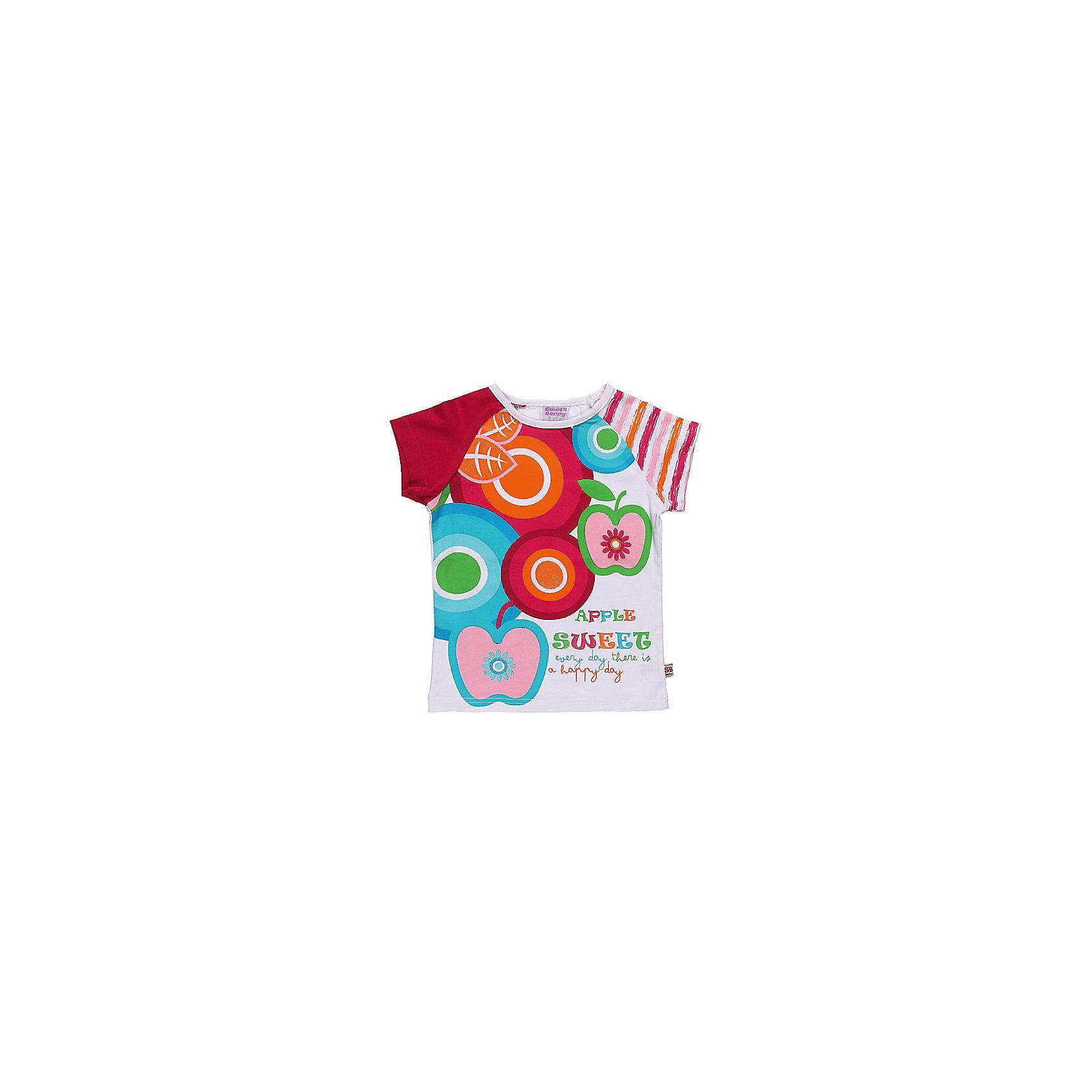 Футболка для девочки Sweet BerryФутболка из трикотажа с ярким принтом.  Декорирована глитером.<br>Состав:<br>95% хлопок, 5% эластан<br><br>Ширина мм: 199<br>Глубина мм: 10<br>Высота мм: 161<br>Вес г: 151<br>Цвет: разноцветный<br>Возраст от месяцев: 9<br>Возраст до месяцев: 12<br>Пол: Женский<br>Возраст: Детский<br>Размер: 80,98,86,92<br>SKU: 4520553