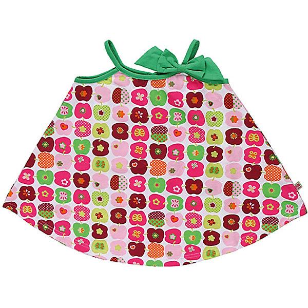 Платье для девочки Sweet BerryПлатья<br>Сарафан из  принтованного эластичного трикотажа.Конструкция сарафана надежно удерживает лямки на плечах ребенка.<br>Состав:<br>95% хлопок, 5% эластан<br>Ширина мм: 236; Глубина мм: 16; Высота мм: 184; Вес г: 177; Цвет: белый; Возраст от месяцев: 9; Возраст до месяцев: 12; Пол: Женский; Возраст: Детский; Размер: 80,98,86,92; SKU: 4520573;