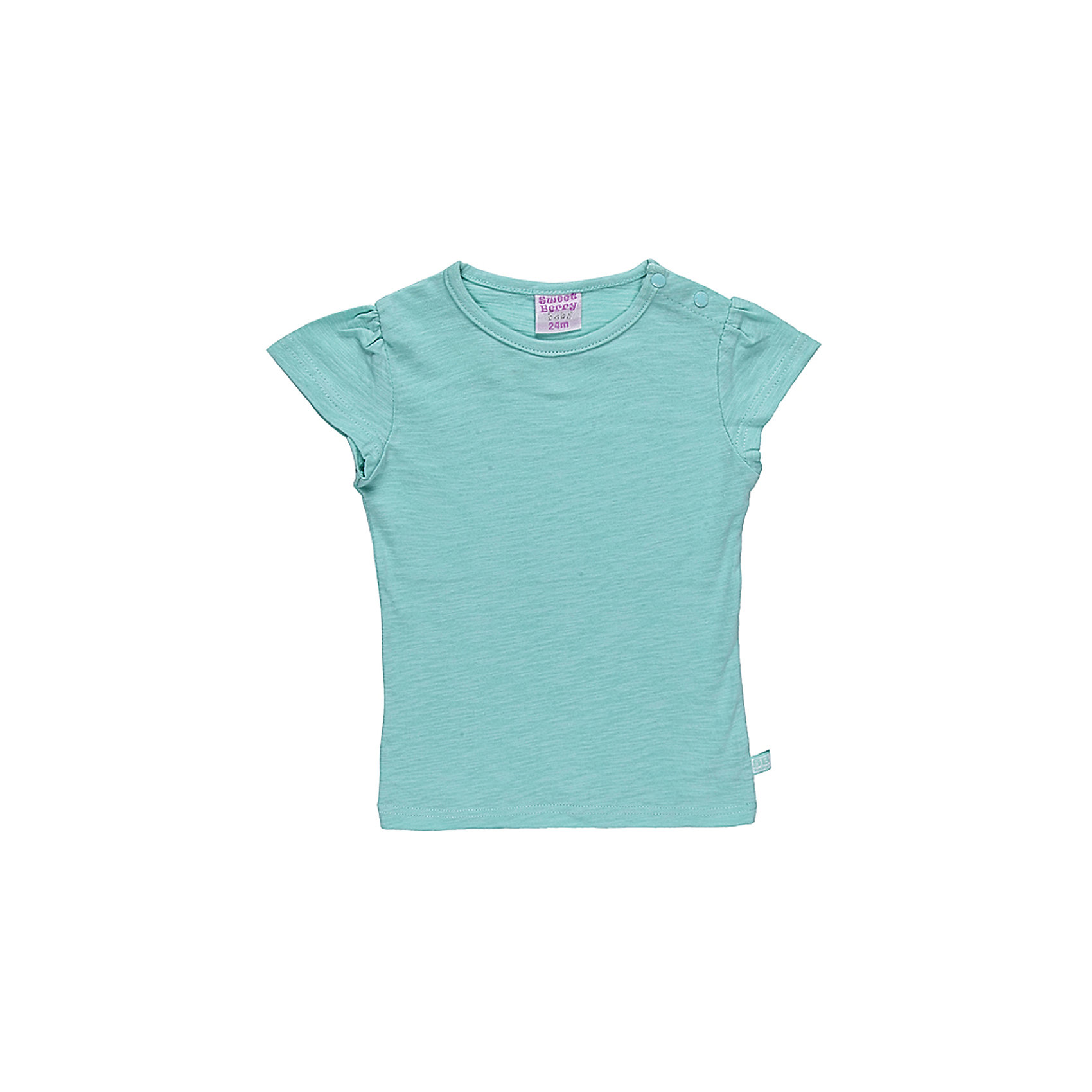 Футболка для девочки Sweet BerryБазовая футболка из эластичного трикотажа. Футболка приталенного силуэта.По рукаву сборка.<br>Состав:<br>100% хлопок<br><br>Ширина мм: 199<br>Глубина мм: 10<br>Высота мм: 161<br>Вес г: 151<br>Цвет: зеленый<br>Возраст от месяцев: 24<br>Возраст до месяцев: 36<br>Пол: Женский<br>Возраст: Детский<br>Размер: 98,86,80,92<br>SKU: 4520616