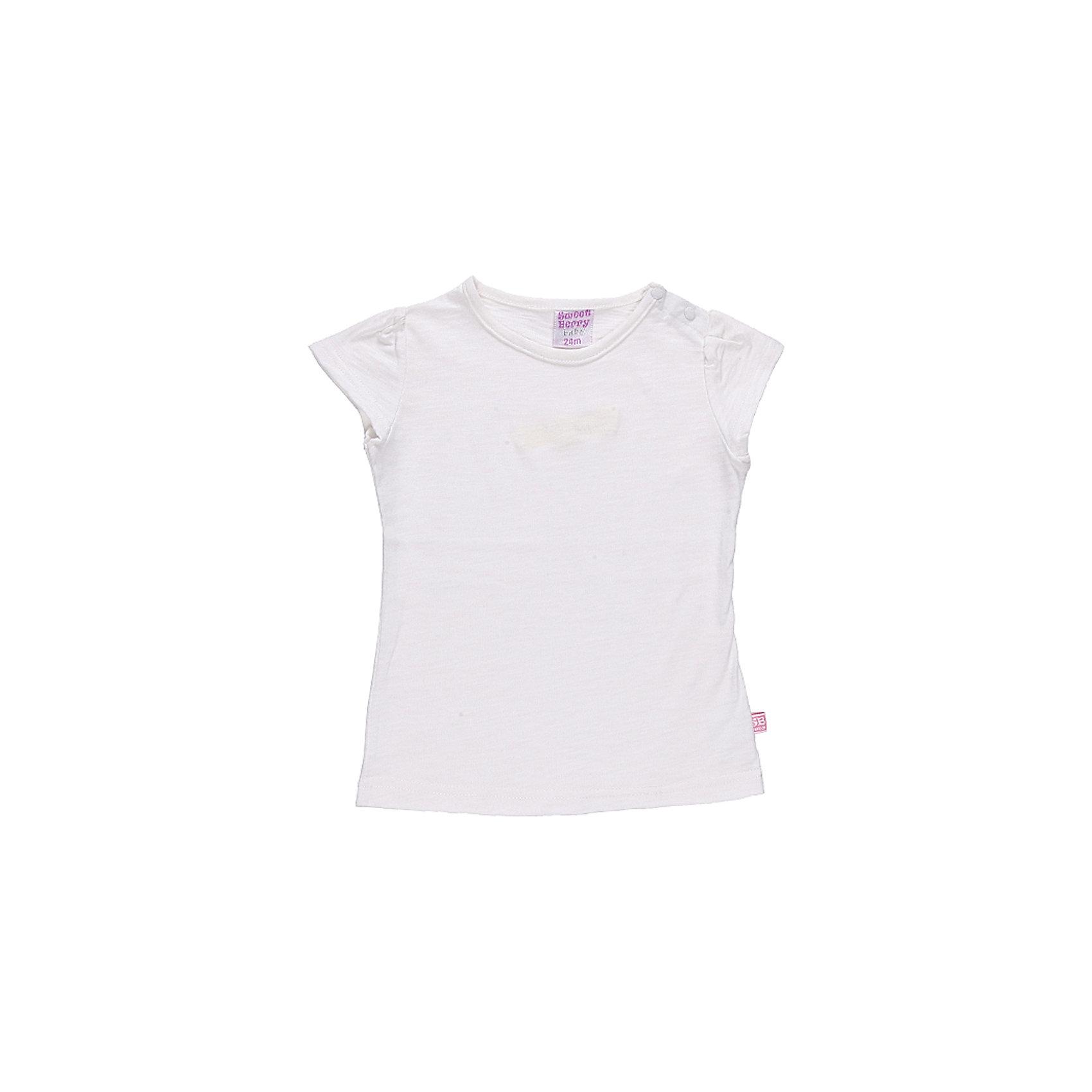 Футболка для девочки Sweet BerryБазовая футболка из эластичного трикотажа. Футболка приталенного силуэта.По рукаву сборка.<br>Состав:<br>100% хлопок<br><br>Ширина мм: 199<br>Глубина мм: 10<br>Высота мм: 161<br>Вес г: 151<br>Цвет: розовый<br>Возраст от месяцев: 18<br>Возраст до месяцев: 24<br>Пол: Женский<br>Возраст: Детский<br>Размер: 92,80,98,86<br>SKU: 4520626