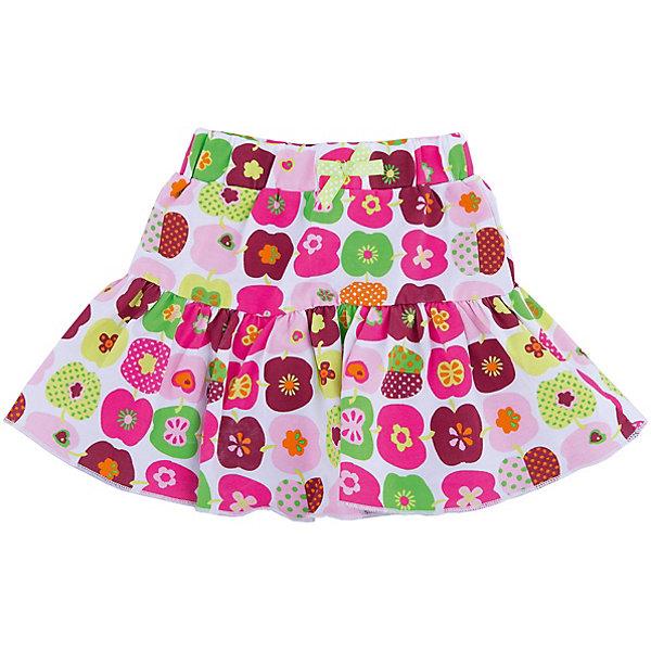 Юбка для девочки Sweet BerryЮбки<br>Яркая трикотажная юбка на кокетке. Пояс регулиркется эластичной резинкой.<br>Состав:<br>95% хлопок, 5% эластан<br><br>Ширина мм: 207<br>Глубина мм: 10<br>Высота мм: 189<br>Вес г: 183<br>Цвет: белый<br>Возраст от месяцев: 9<br>Возраст до месяцев: 12<br>Пол: Женский<br>Возраст: Детский<br>Размер: 80,98,92,86<br>SKU: 4520636
