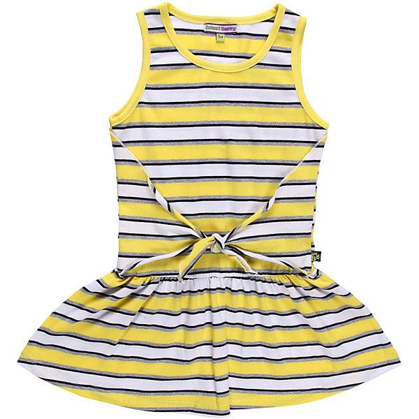 Платье для девочки Sweet BerryПлатья и сарафаны<br>Оригинальное платье из эластичного трикотажа  с имитацией запаха.<br>Состав:<br>95% хлопок, 5% эластан<br><br>Ширина мм: 236<br>Глубина мм: 16<br>Высота мм: 184<br>Вес г: 177<br>Цвет: белый<br>Возраст от месяцев: 24<br>Возраст до месяцев: 36<br>Пол: Женский<br>Возраст: Детский<br>Размер: 98,104,110,116,122,128<br>SKU: 4520753