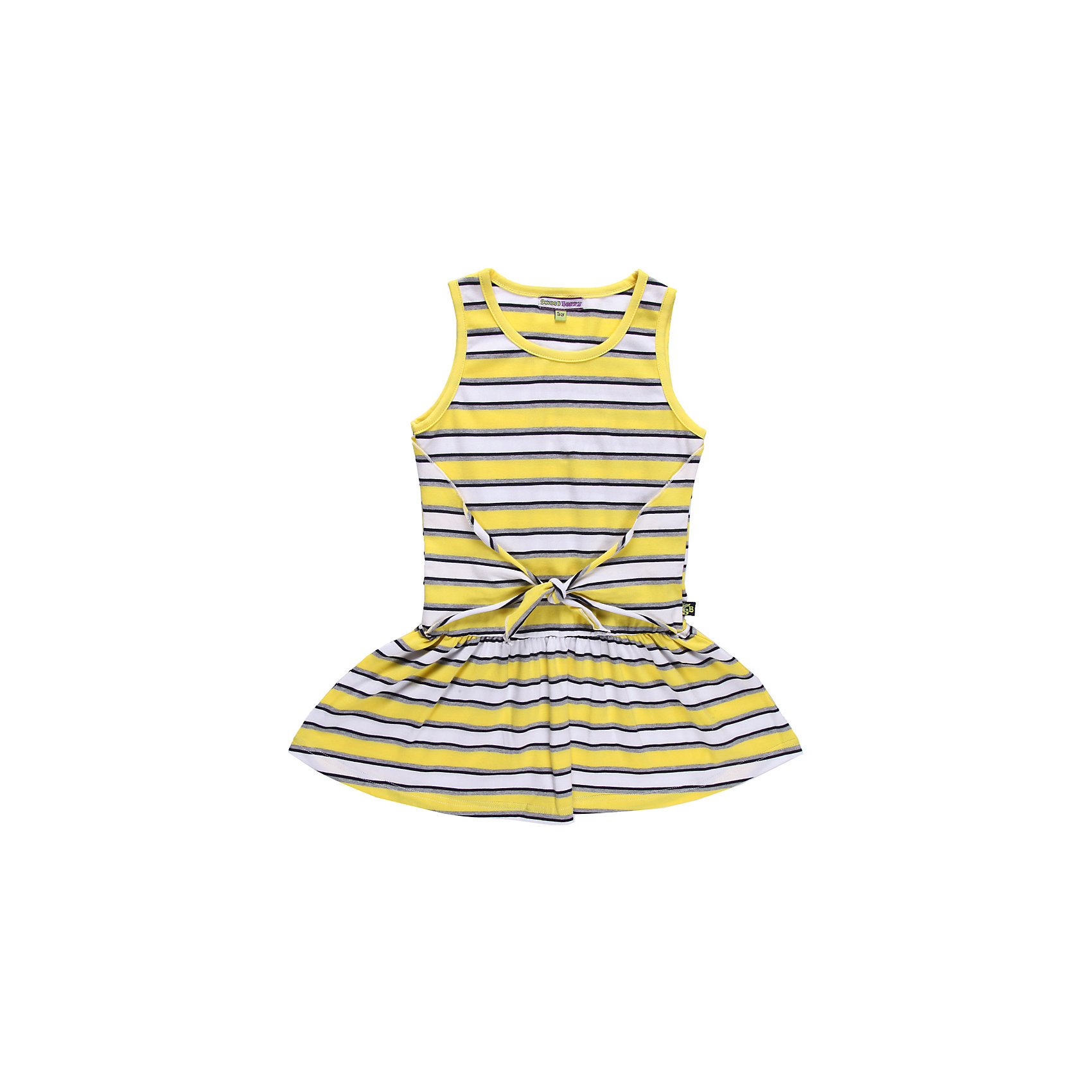 Платье для девочки Sweet BerryОригинальное платье из эластичного трикотажа  с имитацией запаха.<br>Состав:<br>95% хлопок, 5% эластан<br><br>Ширина мм: 236<br>Глубина мм: 16<br>Высота мм: 184<br>Вес г: 177<br>Цвет: разноцветный<br>Возраст от месяцев: 36<br>Возраст до месяцев: 48<br>Пол: Женский<br>Возраст: Детский<br>Размер: 104,110,116,122,128,98<br>SKU: 4520753
