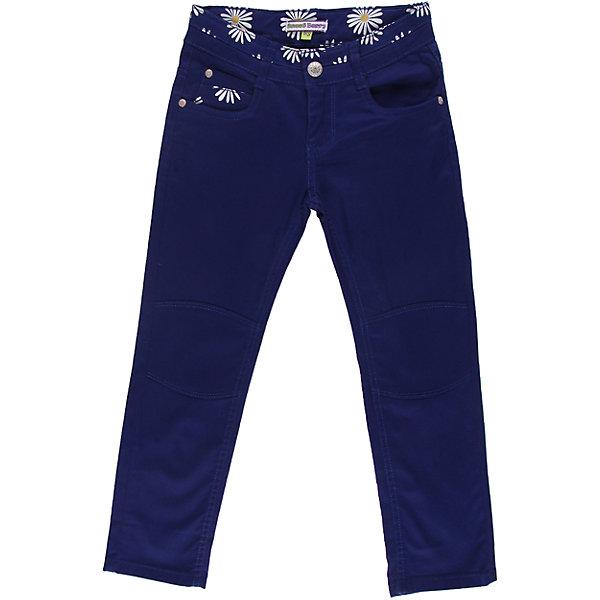 Брюки для девочки Sweet BerryБрюки<br>Текстильные брюки с цветочной отделкой. С регулировкой внутри по пояс.<br>Состав:<br>98% хлопок, 2% эластан<br><br>Ширина мм: 215<br>Глубина мм: 88<br>Высота мм: 191<br>Вес г: 336<br>Цвет: синий<br>Возраст от месяцев: 48<br>Возраст до месяцев: 60<br>Пол: Женский<br>Возраст: Детский<br>Размер: 110,116,122,128,98,104<br>SKU: 4520810
