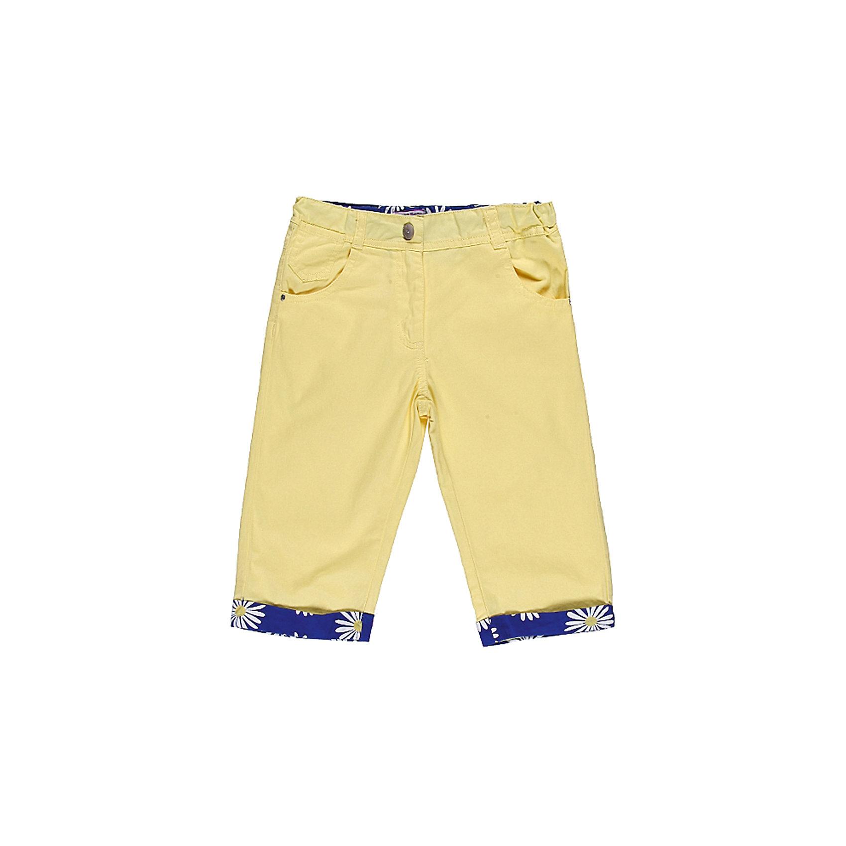 Бриджи для девочки Sweet BerryЛетние брюки на девочку, из тонкого поплина. Четыре функциональных кармана, Модель декорирована вставками из принтованной ткани. Есть утяжки.<br>Состав:<br>100% хлопок<br><br>Ширина мм: 191<br>Глубина мм: 10<br>Высота мм: 175<br>Вес г: 273<br>Цвет: желтый<br>Возраст от месяцев: 60<br>Возраст до месяцев: 72<br>Пол: Женский<br>Возраст: Детский<br>Размер: 116,122,128,104,110,98<br>SKU: 4520824