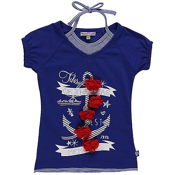 Футболка для девочки Sweet BerryФутболки, поло и топы<br>Трикотажная футболка с иммитацией 2 в одном. Регулируется эластичными завязками.<br>Состав:<br>95% хлопок, 5% эластан<br><br>Ширина мм: 199<br>Глубина мм: 10<br>Высота мм: 161<br>Вес г: 151<br>Цвет: синий<br>Возраст от месяцев: 84<br>Возраст до месяцев: 96<br>Пол: Женский<br>Возраст: Детский<br>Размер: 128,116,122,110,98,104<br>SKU: 4521021