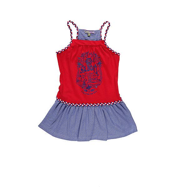 Платье для девочки Sweet BerryПлатья и сарафаны<br>Трикотажное платье украшенное яркими цветами и  переплетеными бретелями.<br>Состав:<br>95% хлопок, 5% эластан<br><br>Ширина мм: 236<br>Глубина мм: 16<br>Высота мм: 184<br>Вес г: 177<br>Цвет: синий/красный<br>Возраст от месяцев: 48<br>Возраст до месяцев: 60<br>Пол: Женский<br>Возраст: Детский<br>Размер: 110,116,122,128,104,98<br>SKU: 4521070