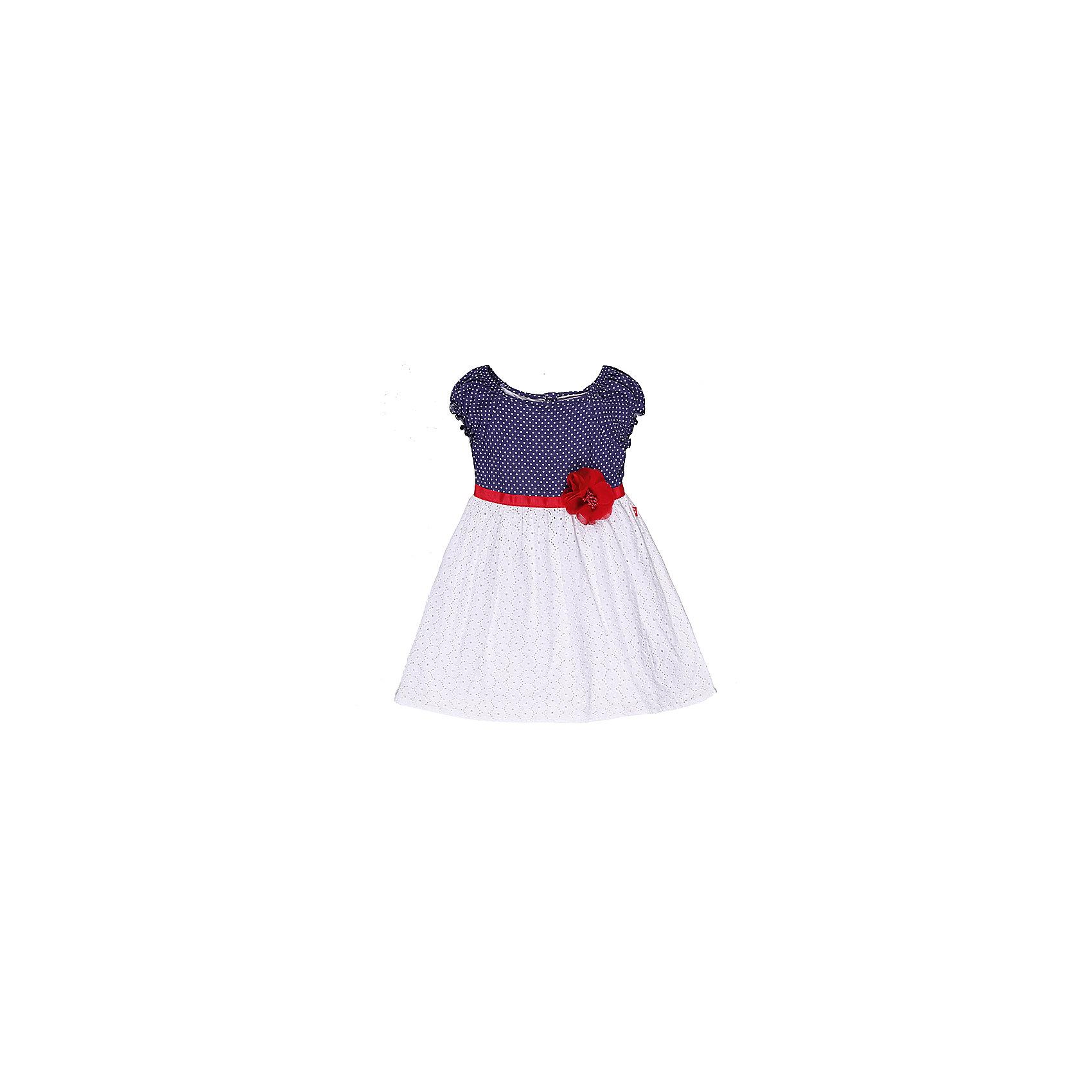 Платье для девочки Sweet BerryПлатье на девочку, выполнено из двух видов ткани, верх - принтованный в горох трикотаж, низ - хлопковое шитье, платье украшено поясом из репсовой ленты.<br>Состав:<br>100% хлопок<br><br>Ширина мм: 236<br>Глубина мм: 16<br>Высота мм: 184<br>Вес г: 177<br>Цвет: белый/синий<br>Возраст от месяцев: 24<br>Возраст до месяцев: 36<br>Пол: Женский<br>Возраст: Детский<br>Размер: 98,128,104,110,122,116<br>SKU: 4521084