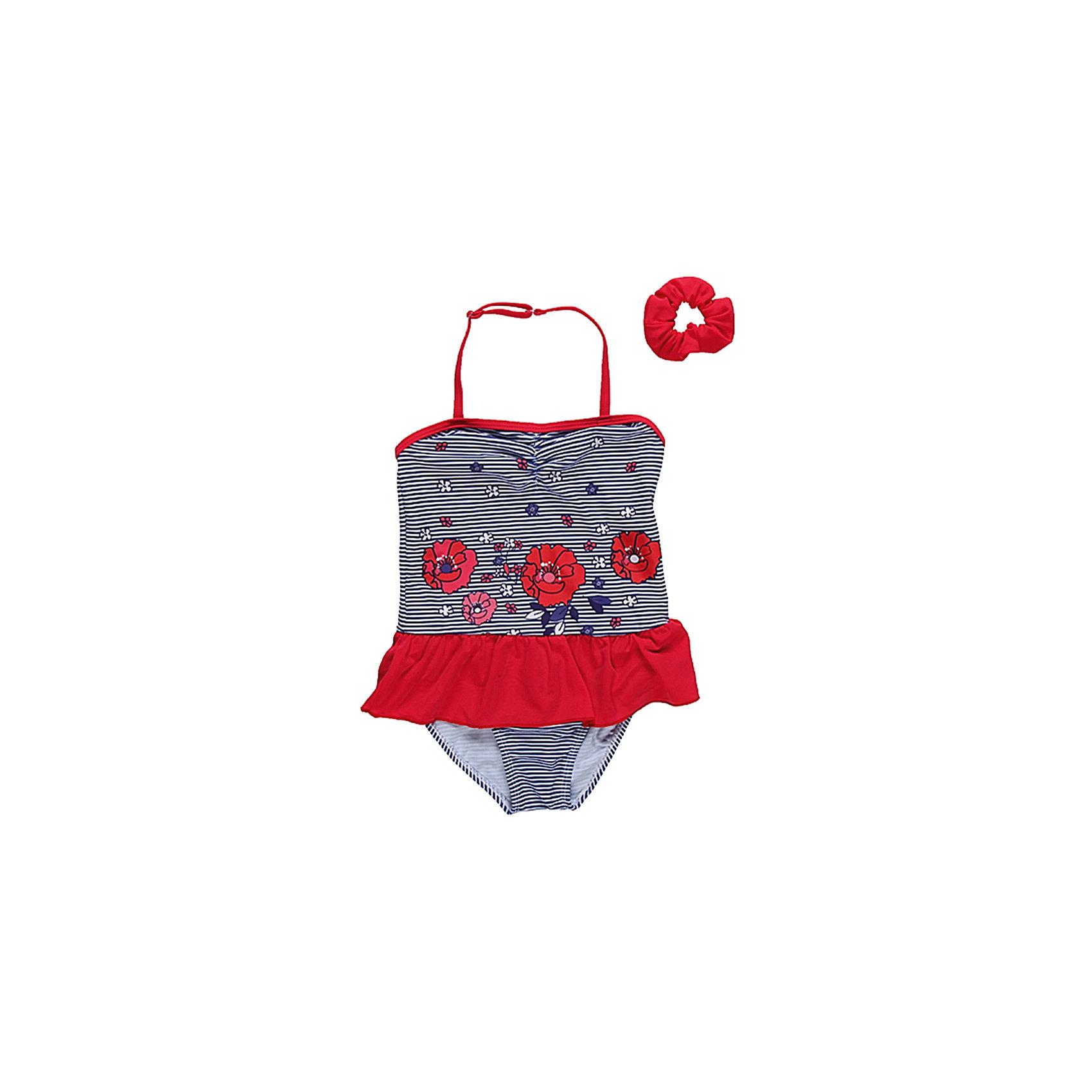 Купальник для девочки Sweet BerryСлитный купальник для девочки - в морской тематике, декорирован оборочкой по талии и оригинальным принтом, резинка для волос в комплекте.<br>Состав:<br>85% нейлон    15% эластан<br><br>Ширина мм: 183<br>Глубина мм: 60<br>Высота мм: 135<br>Вес г: 119<br>Цвет: разноцветный<br>Возраст от месяцев: 60<br>Возраст до месяцев: 72<br>Пол: Женский<br>Возраст: Детский<br>Размер: 116,98,128,104,140,110<br>SKU: 4521138